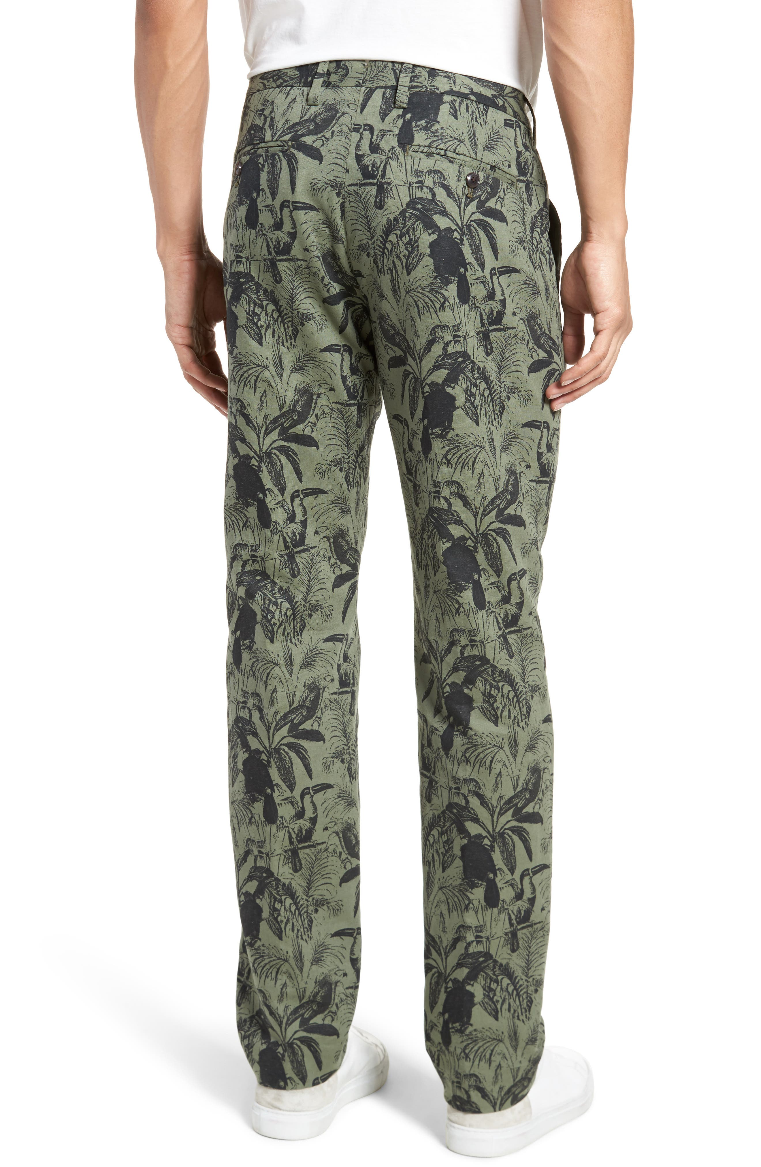 Foundation Print Slim Fit Trousers,                             Alternate thumbnail 2, color,