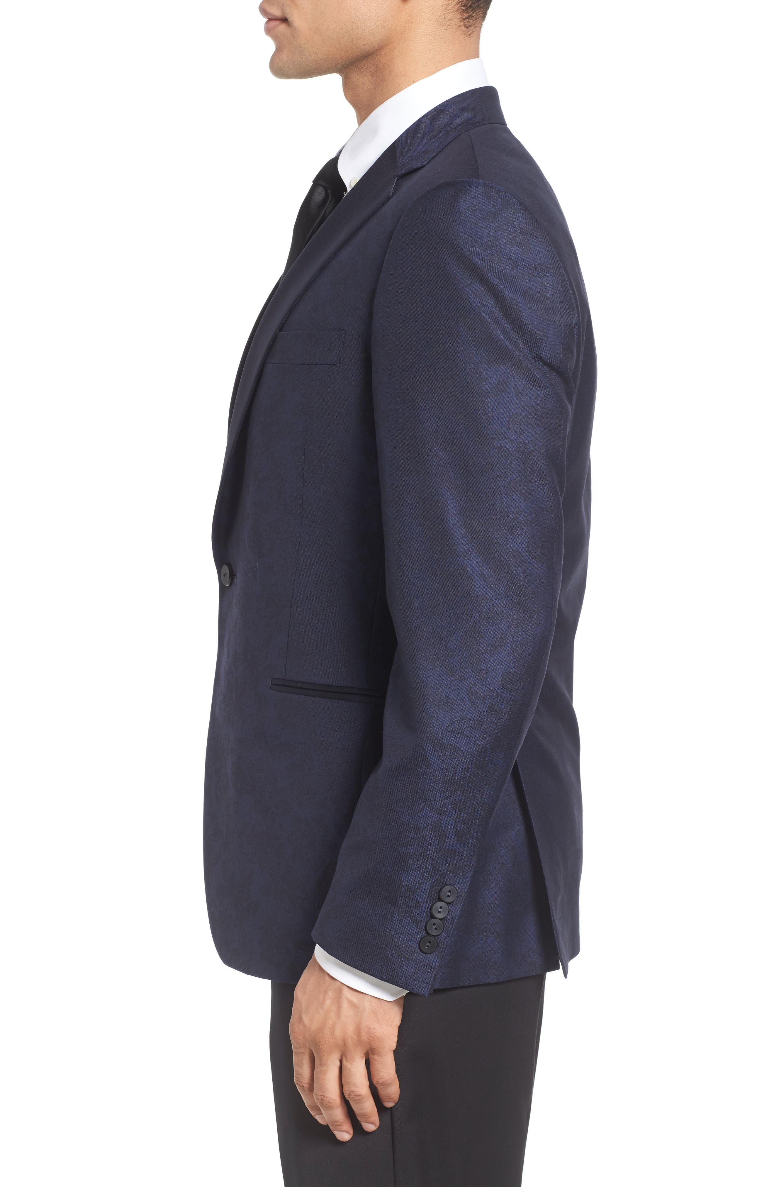 Classic Fit Wool & Cotton Dinner Jacket,                             Alternate thumbnail 3, color,                             410