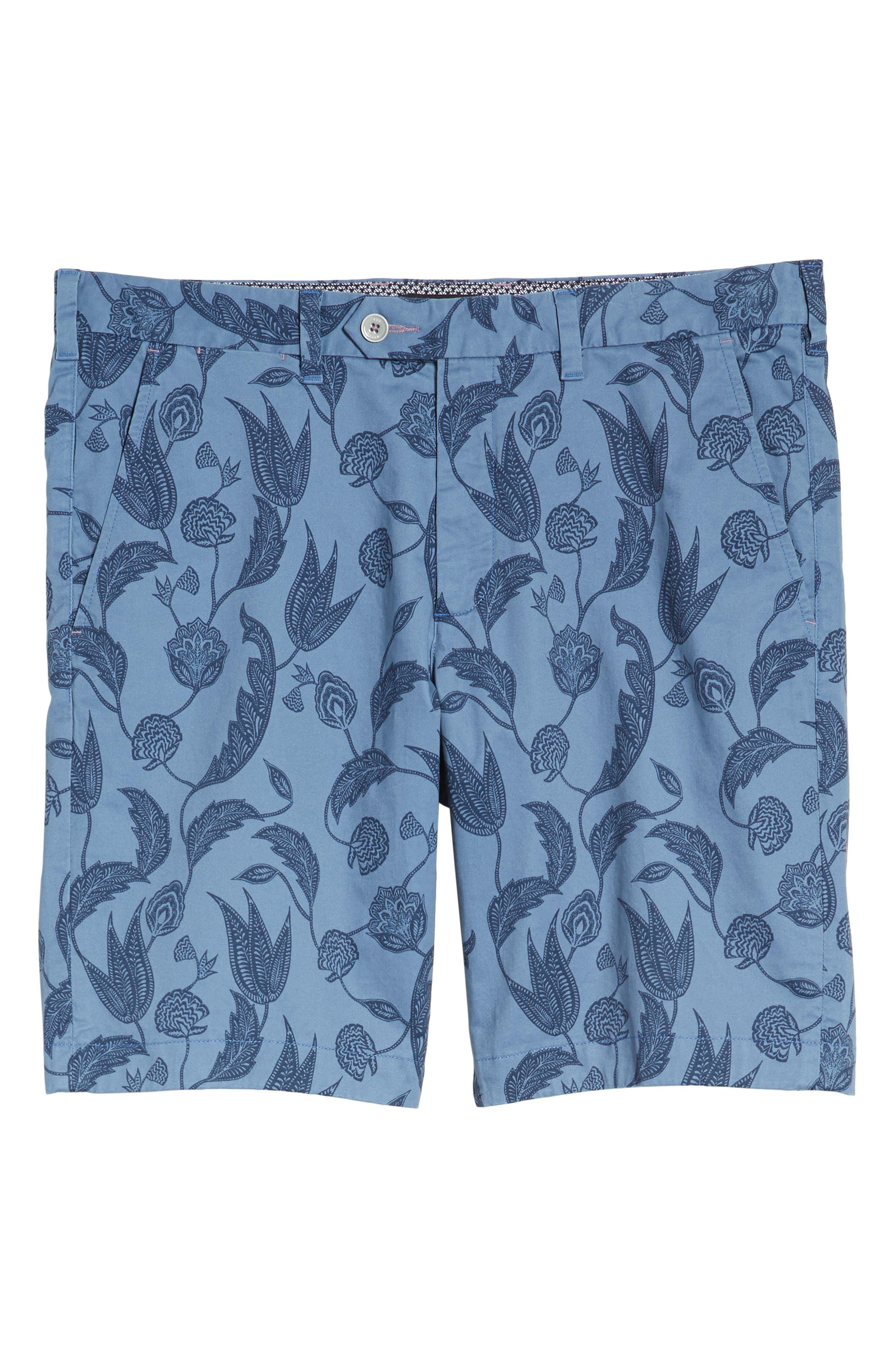 Uniprin Trim Fit Floral Golf Shorts,                             Alternate thumbnail 6, color,                             430