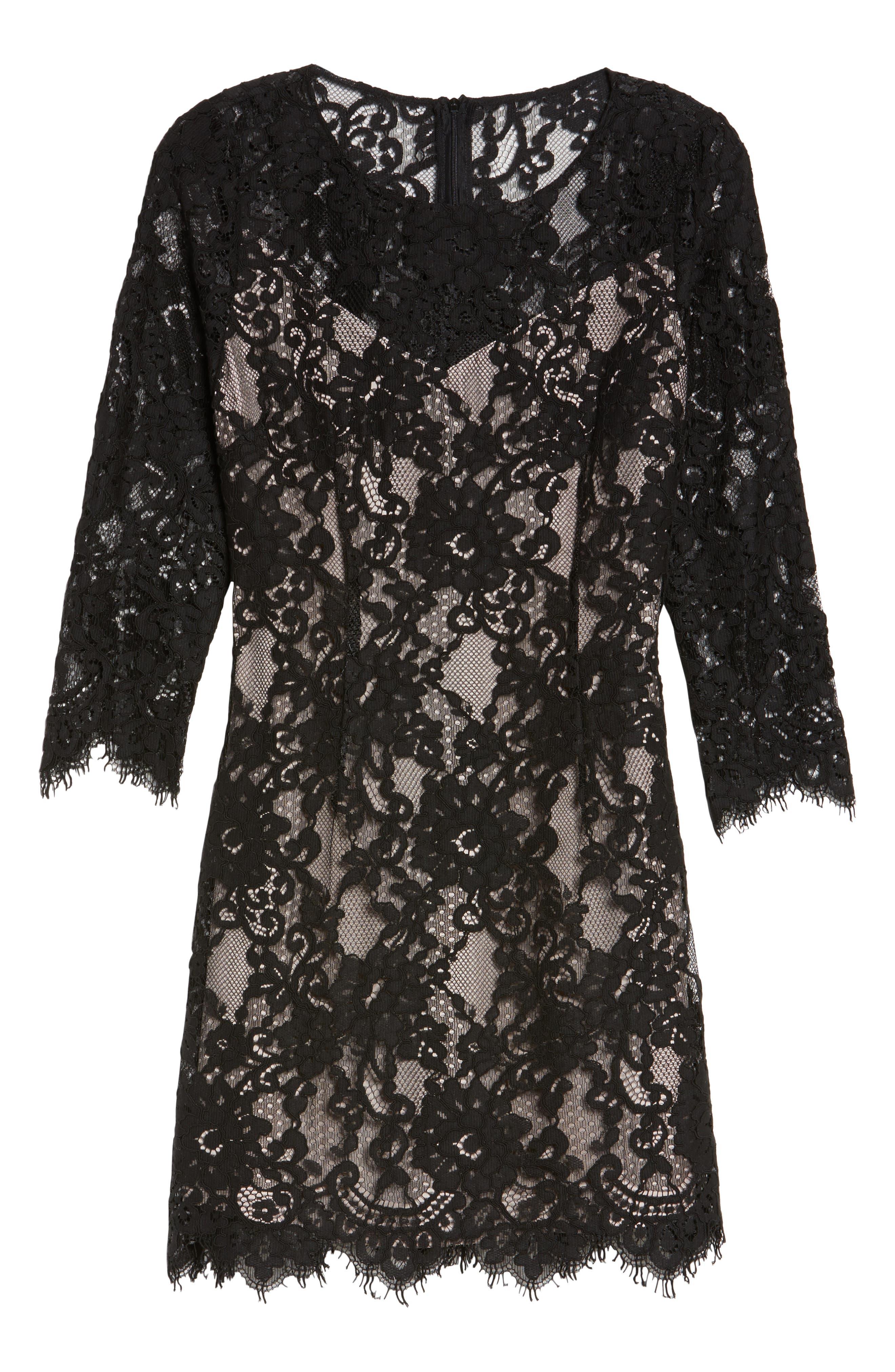 Hale Lace Sheath Dress,                             Alternate thumbnail 6, color,