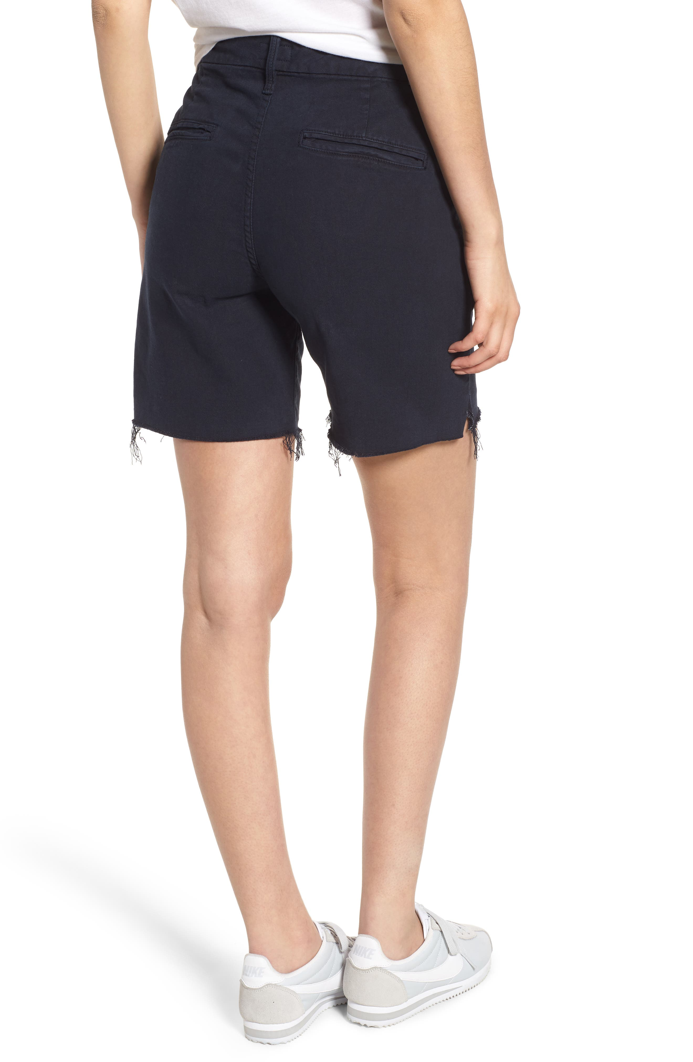 The Bermuda Prep Snippet Fray Twill Shorts,                             Alternate thumbnail 2, color,                             415