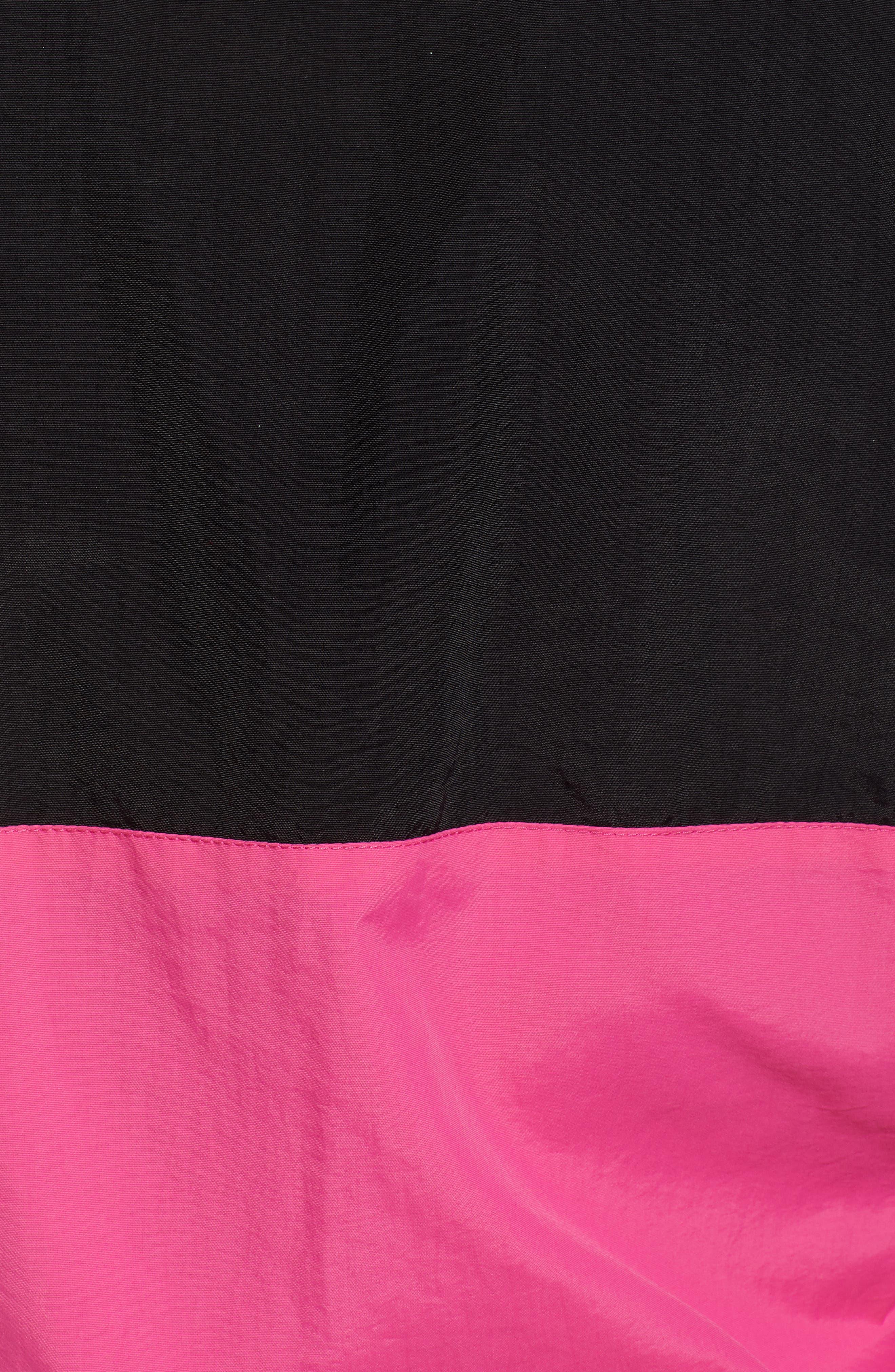 Miguela Colorblock Windbreaker Jacket,                             Alternate thumbnail 7, color,                             BLACK