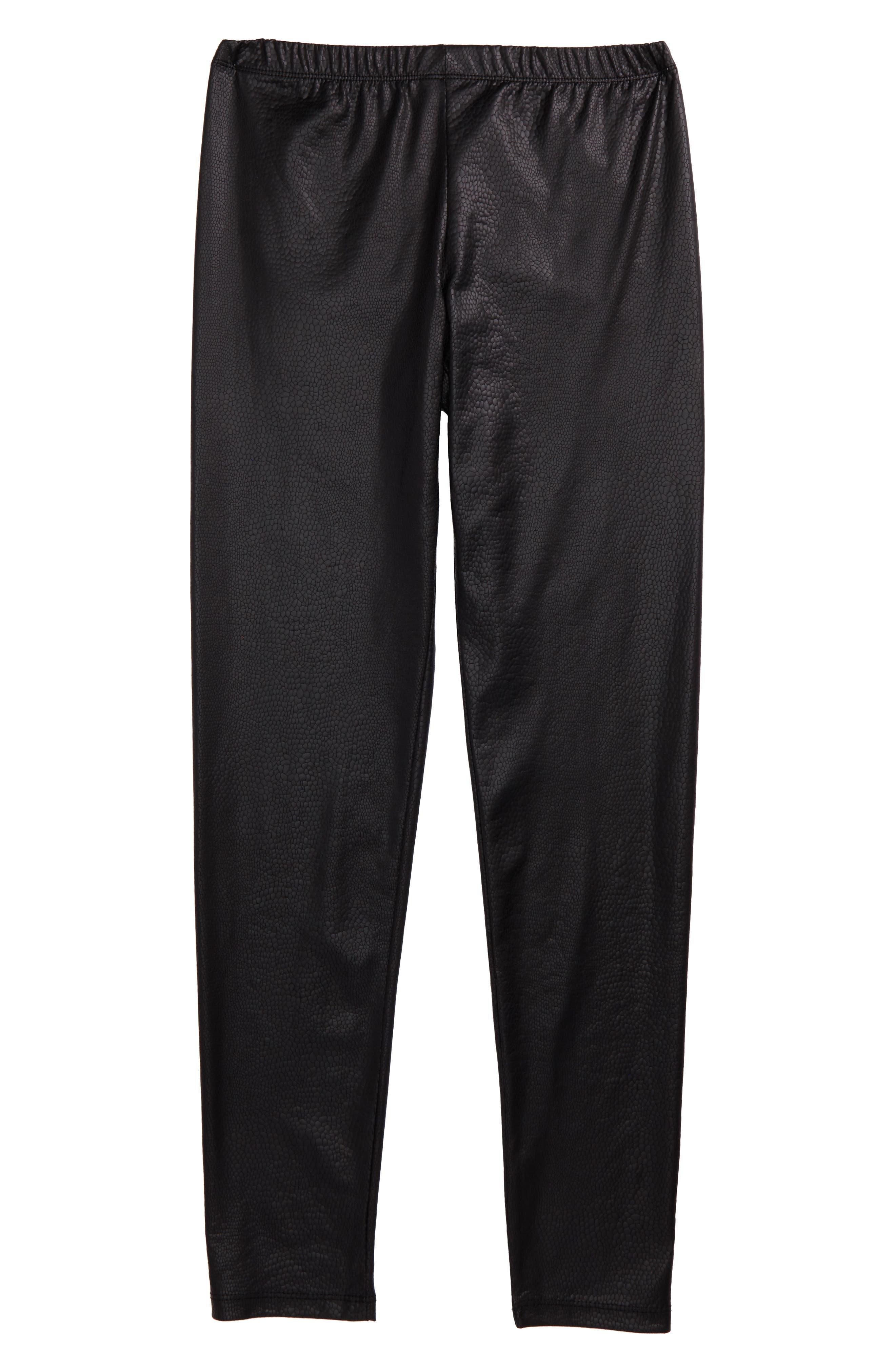 Faux Leather Leggings,                         Main,                         color, 006
