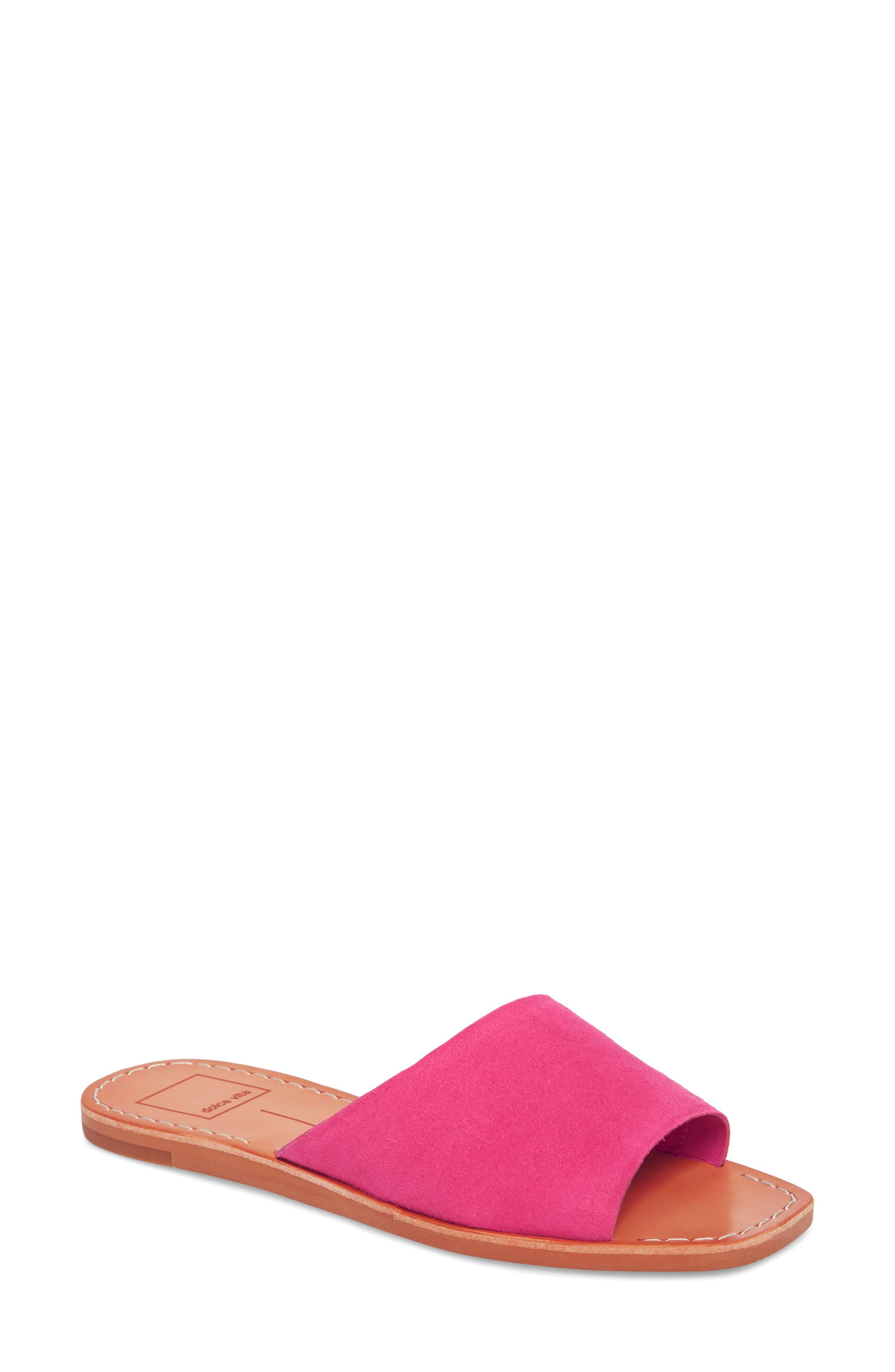 Cato Genuine Calf Hair Slide Sandal,                             Main thumbnail 5, color,