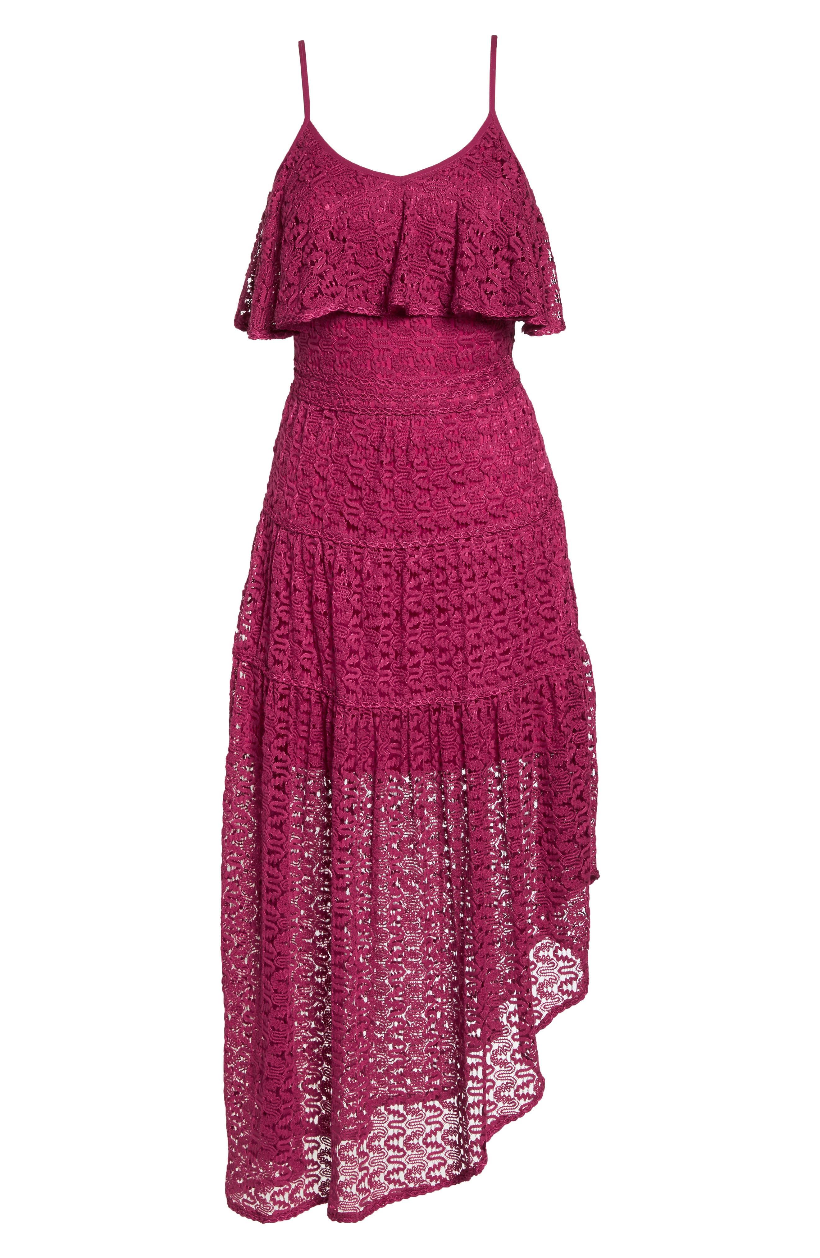 Rayna Asymmetrical Lace Dress,                             Alternate thumbnail 7, color,                             939