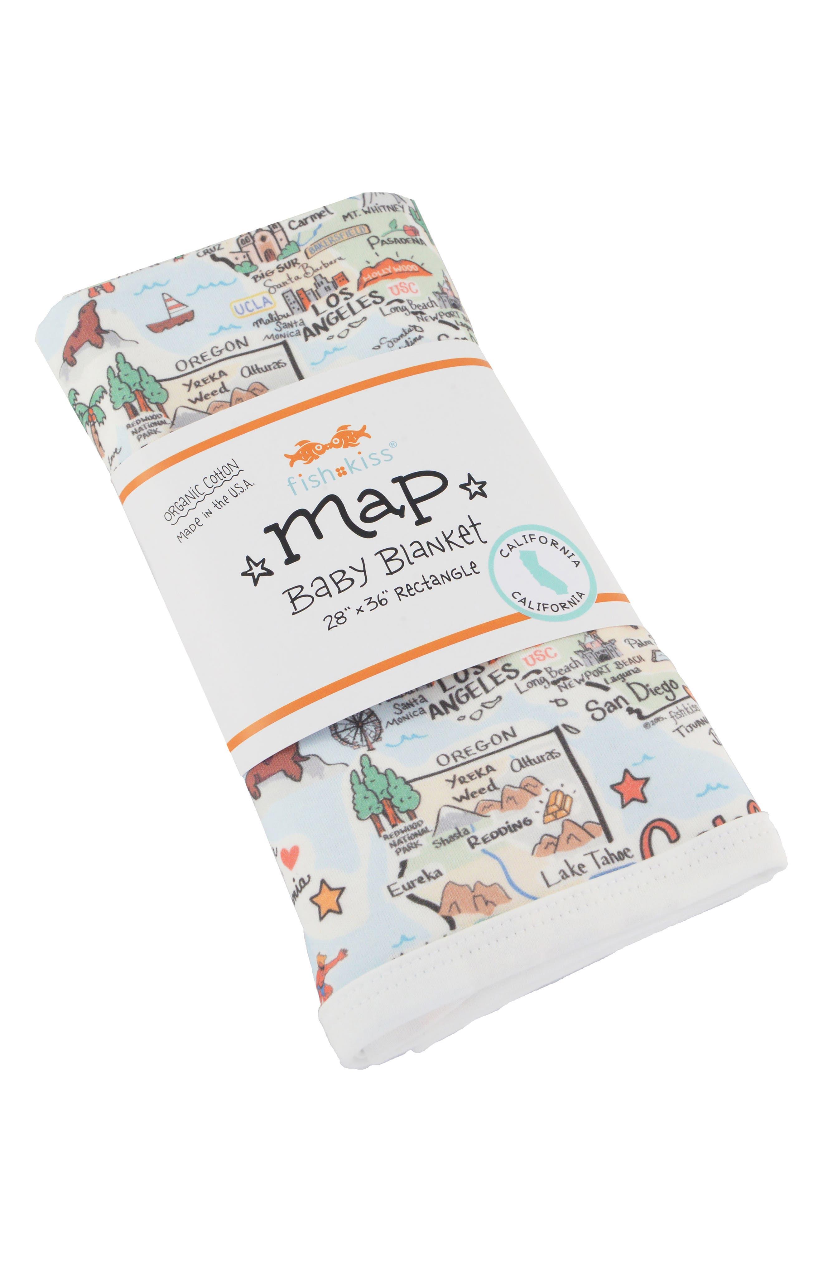 State Map Baby Blanket,                             Main thumbnail 1, color,                             CALIFORNIA