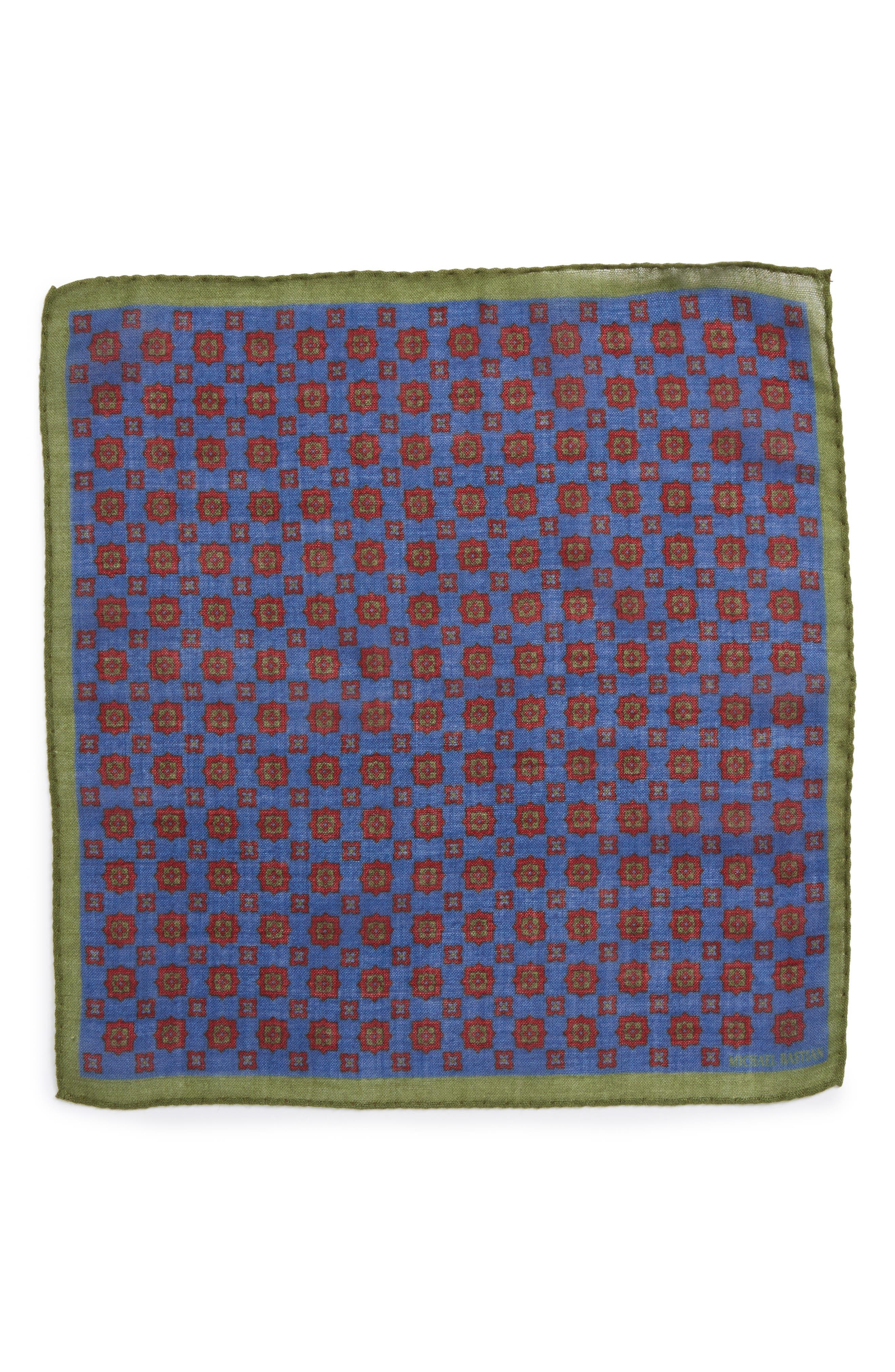 Medallion Pocket Square,                             Alternate thumbnail 9, color,