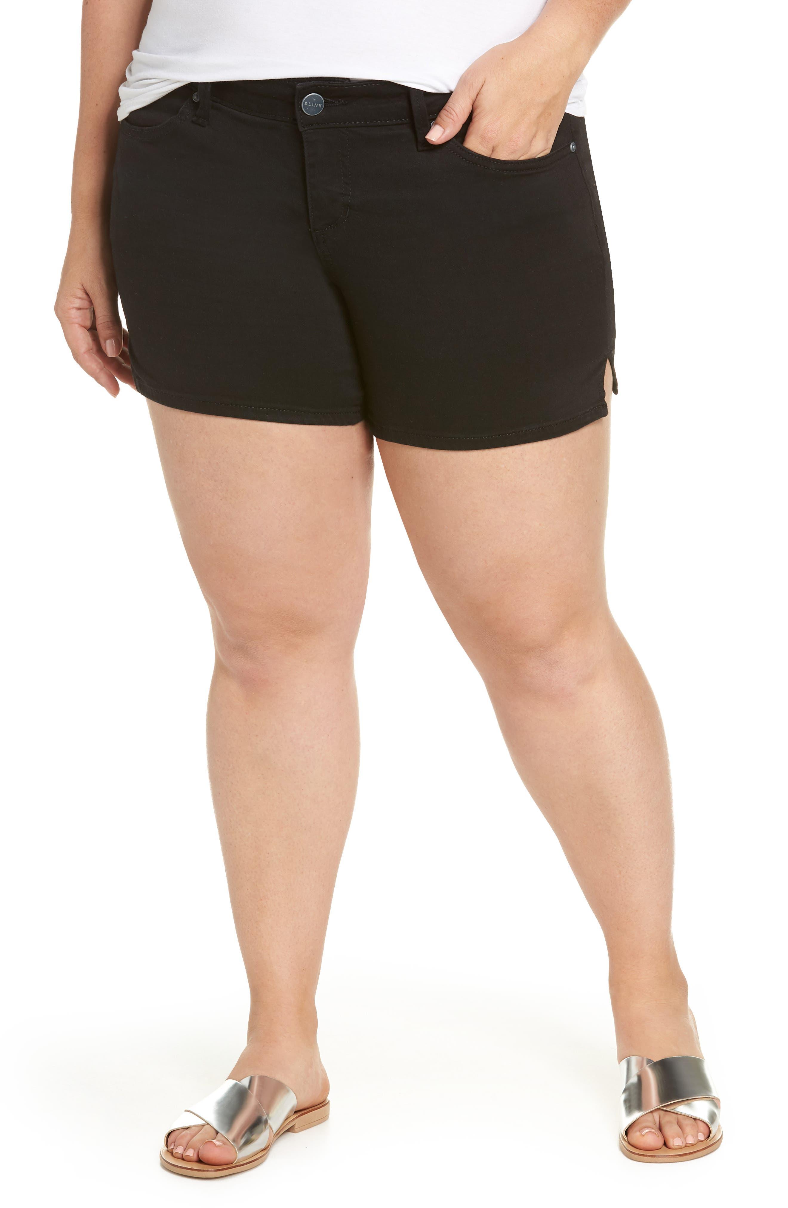 Denim Shorts,                         Main,                         color, 001