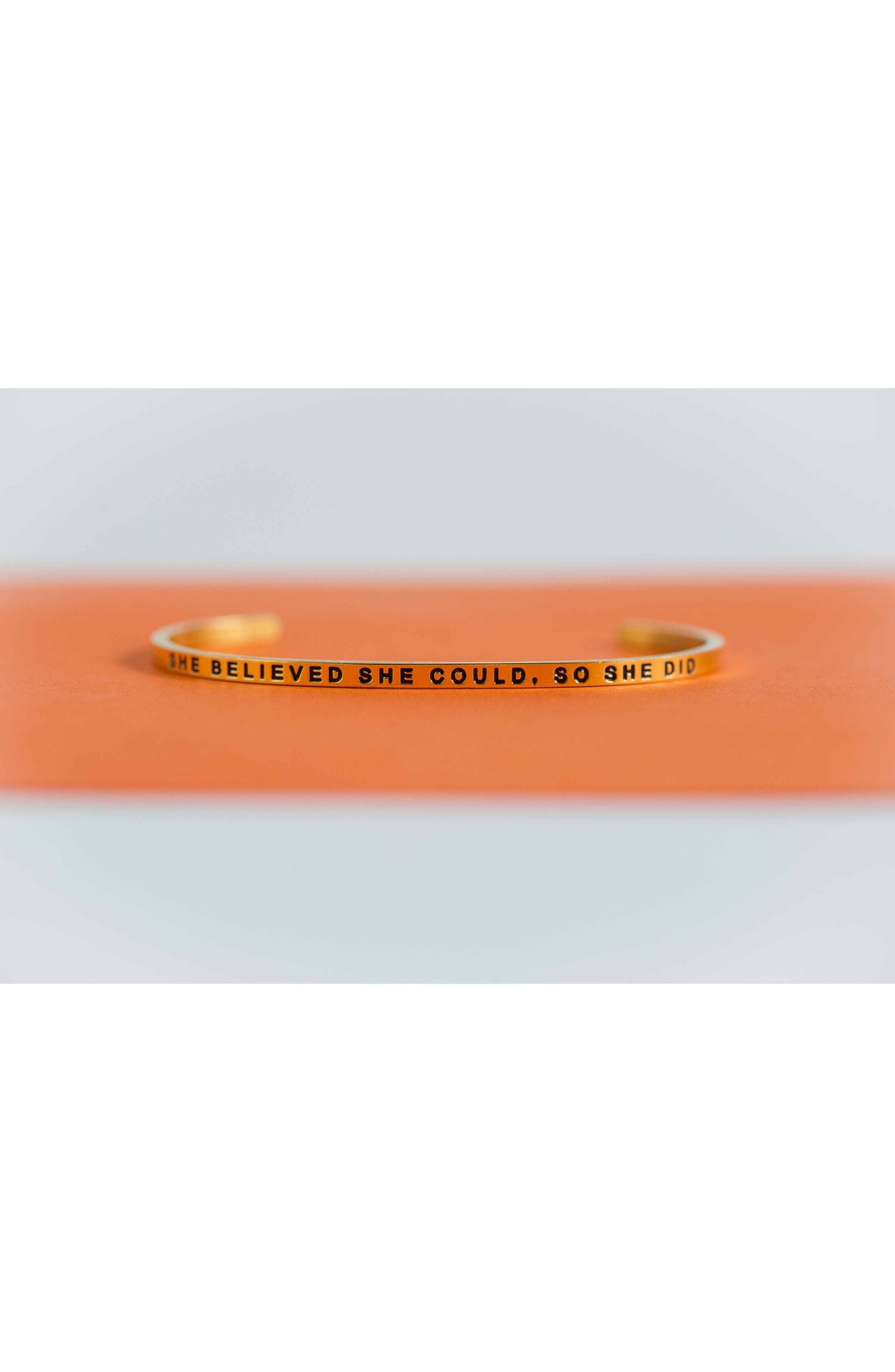 'She Believed She Could' Cuff,                             Alternate thumbnail 19, color,