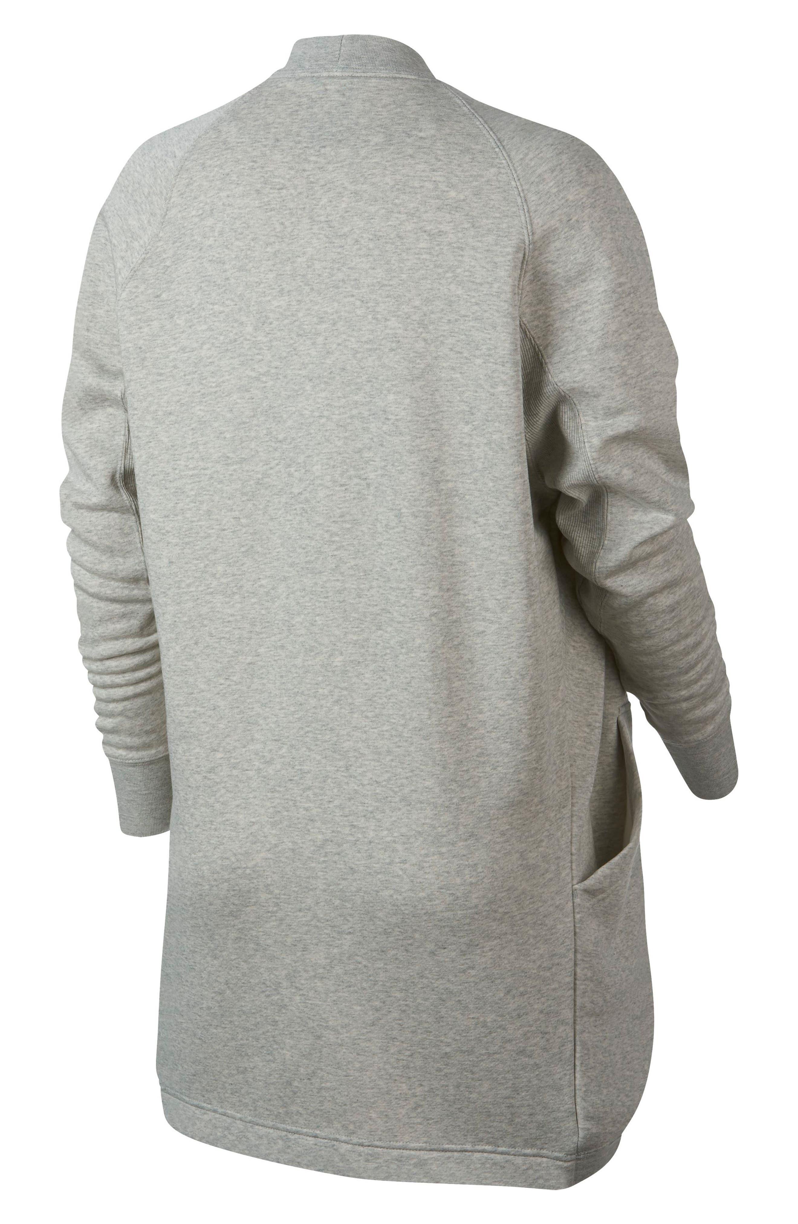 Sportswear Rally Cardigan,                             Alternate thumbnail 6, color,                             GREY HEATHER/ PALE GREY/ WHITE