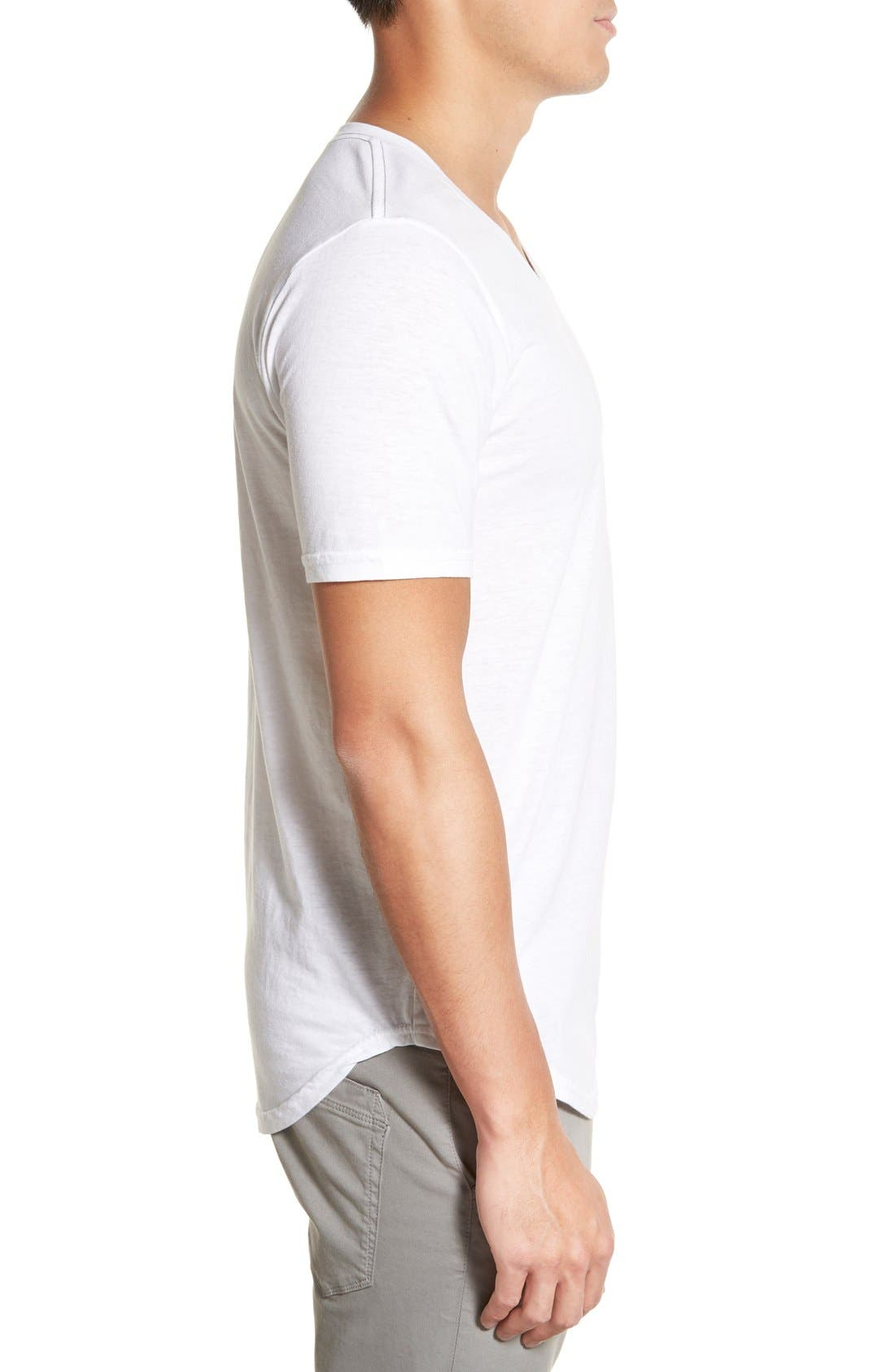 Scallop Triblend V-Neck T-Shirt,                             Alternate thumbnail 64, color,