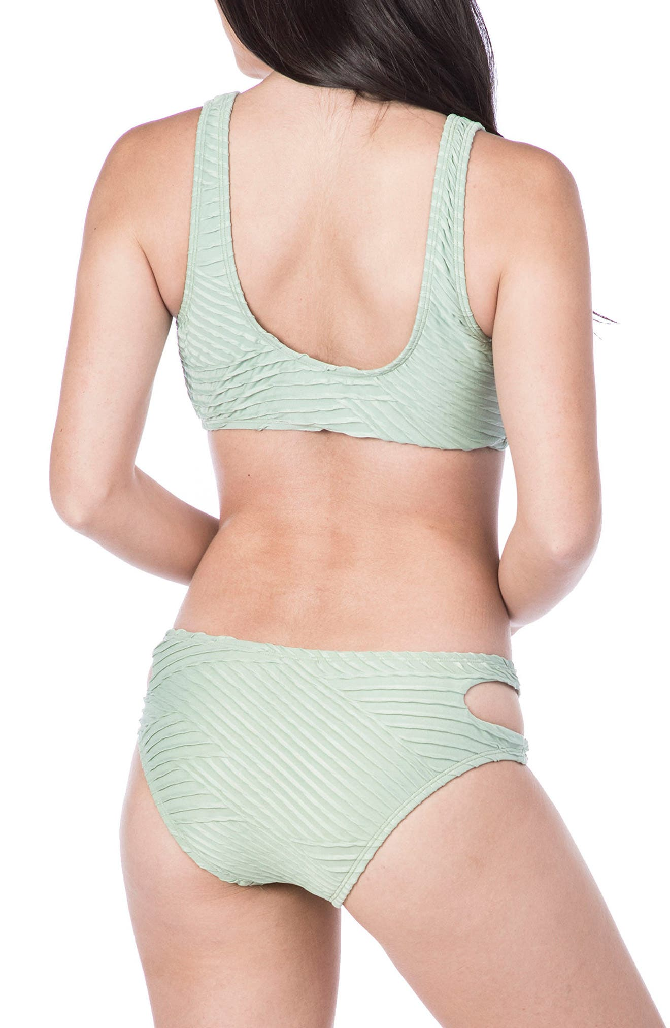 Sand Dune Hipster Bikini Bottoms,                             Alternate thumbnail 4, color,                             SAGE