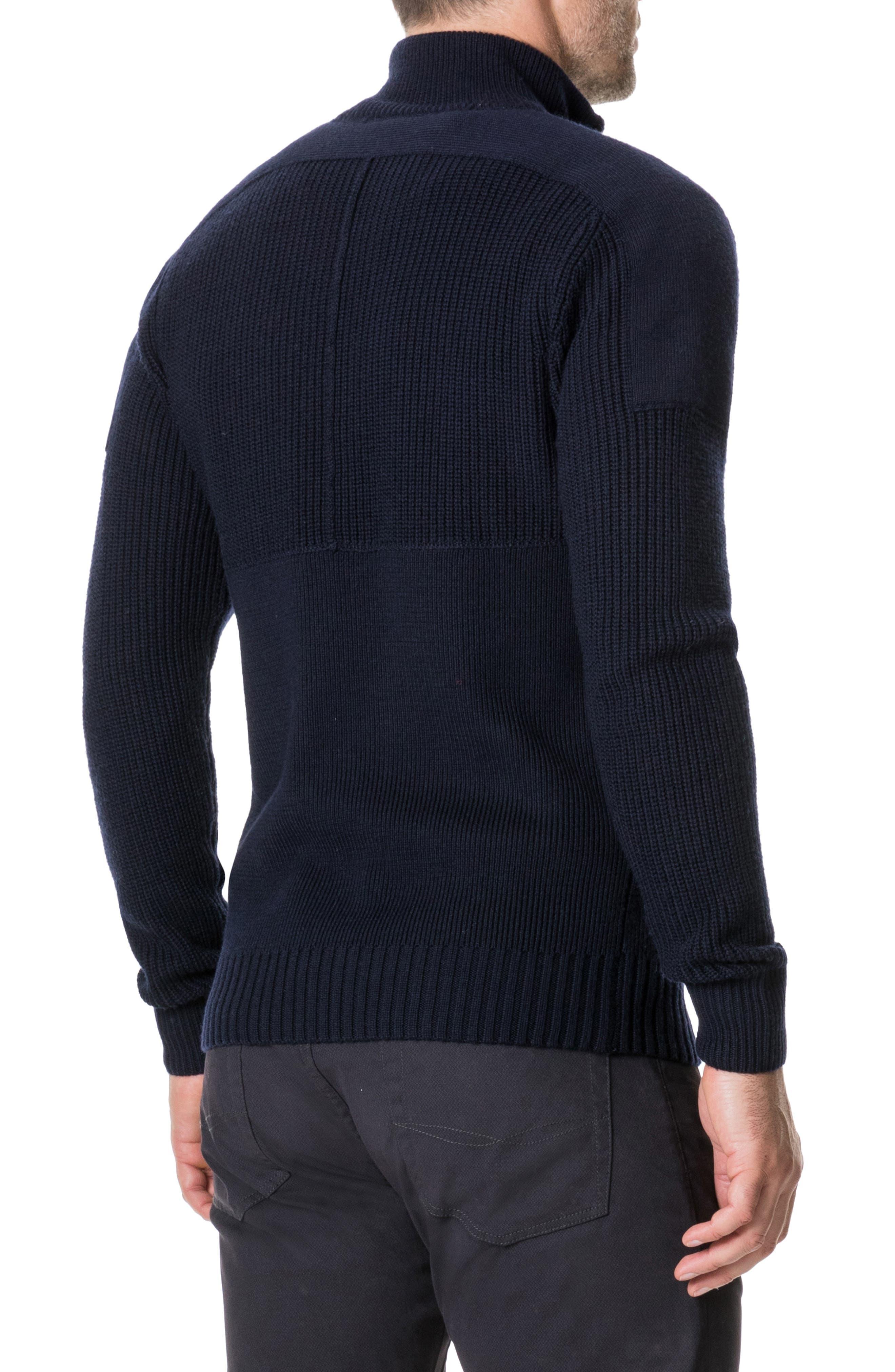 Kina Beach Merino Wool Zip Sweater,                             Alternate thumbnail 2, color,                             400