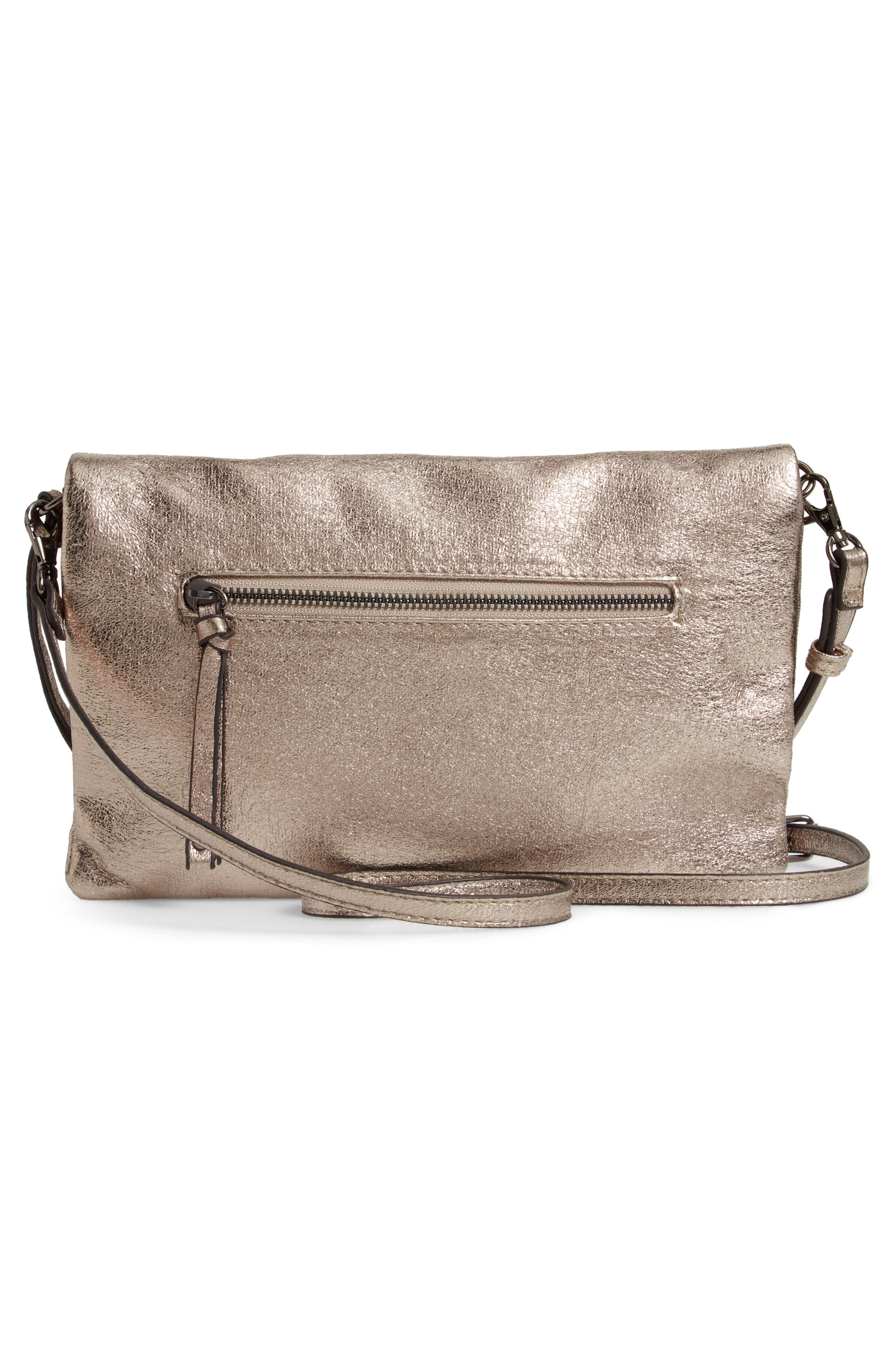 Missa Metallic Clutch,                             Alternate thumbnail 4, color,                             PEWTER
