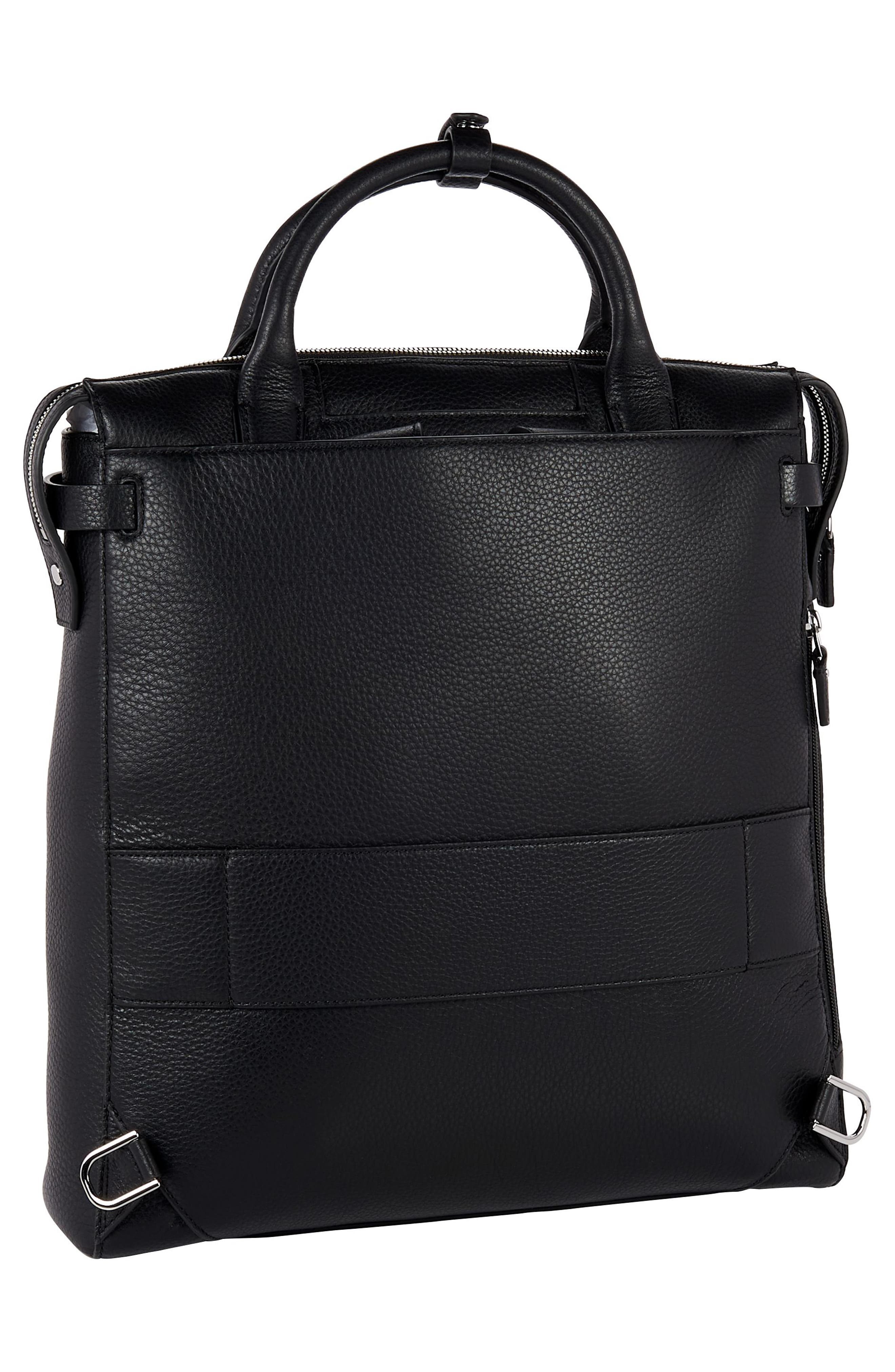 Stanton Stanton Safra Convertible Laptop Backpack/Tote,                             Alternate thumbnail 3, color,                             BLACK