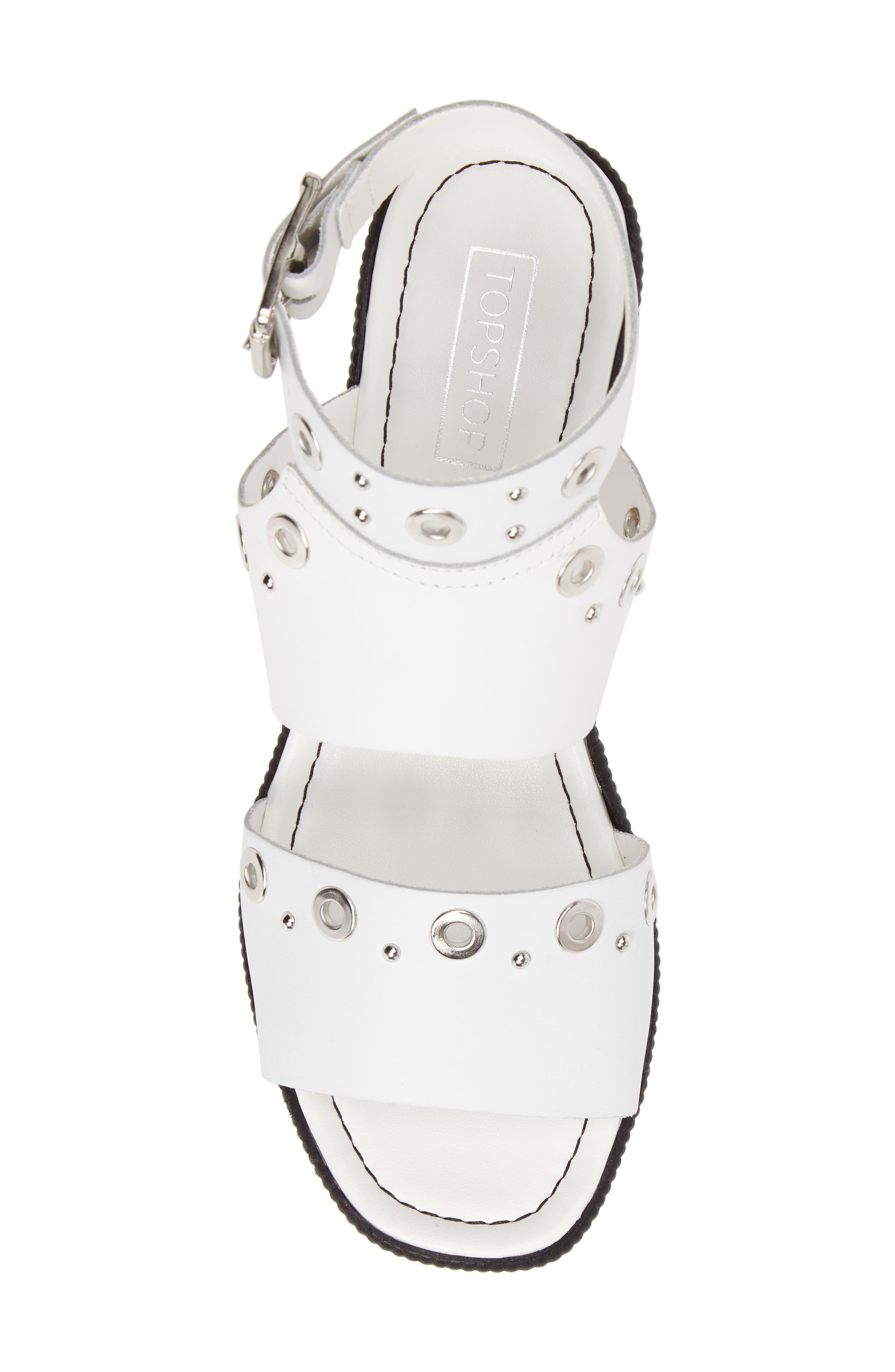 Wizz Grommeted Platform Wedge Sandal,                             Alternate thumbnail 10, color,