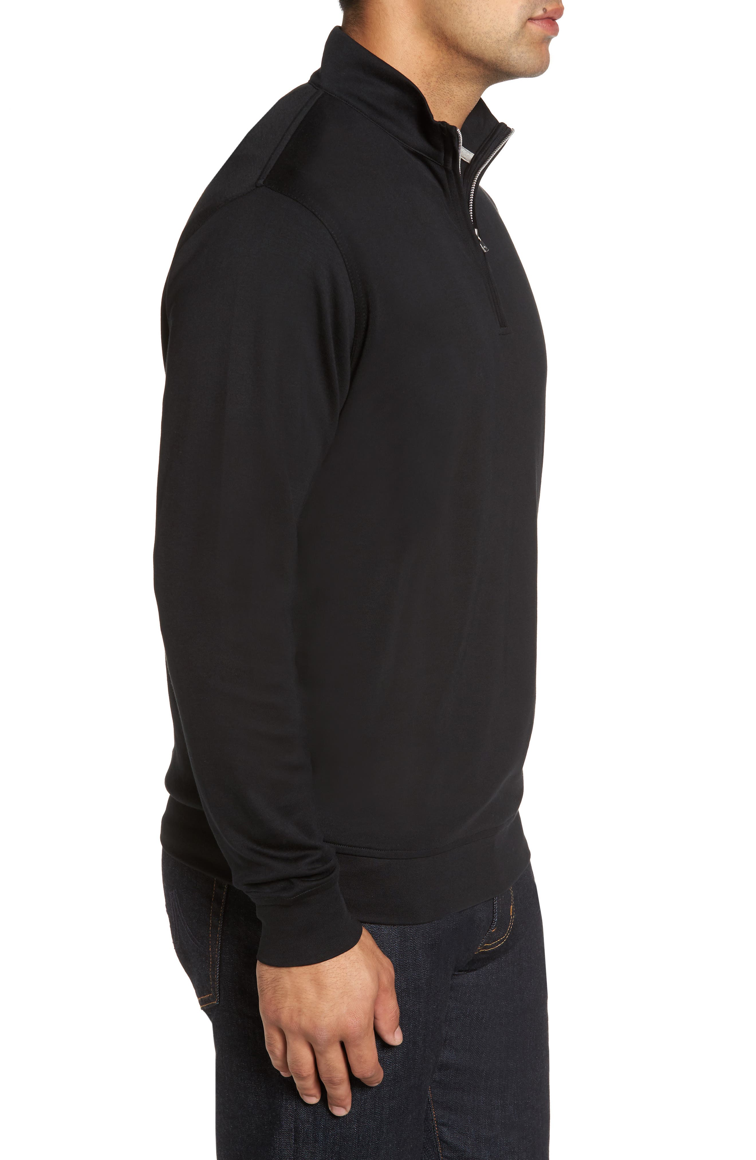 Quarter Zip Pullover,                             Alternate thumbnail 3, color,                             001