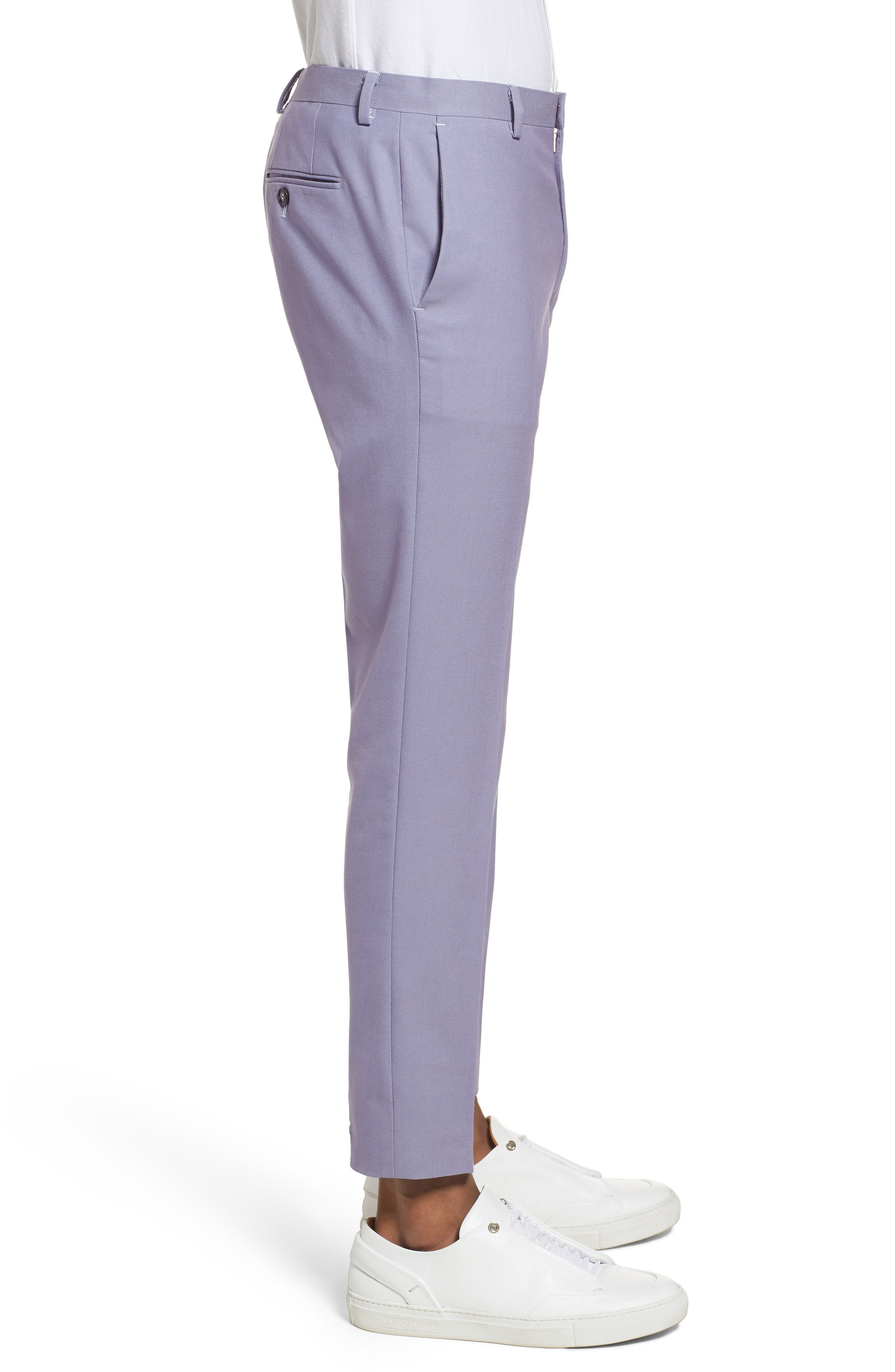 Skinny Fit Suit Trousers,                             Alternate thumbnail 6, color,