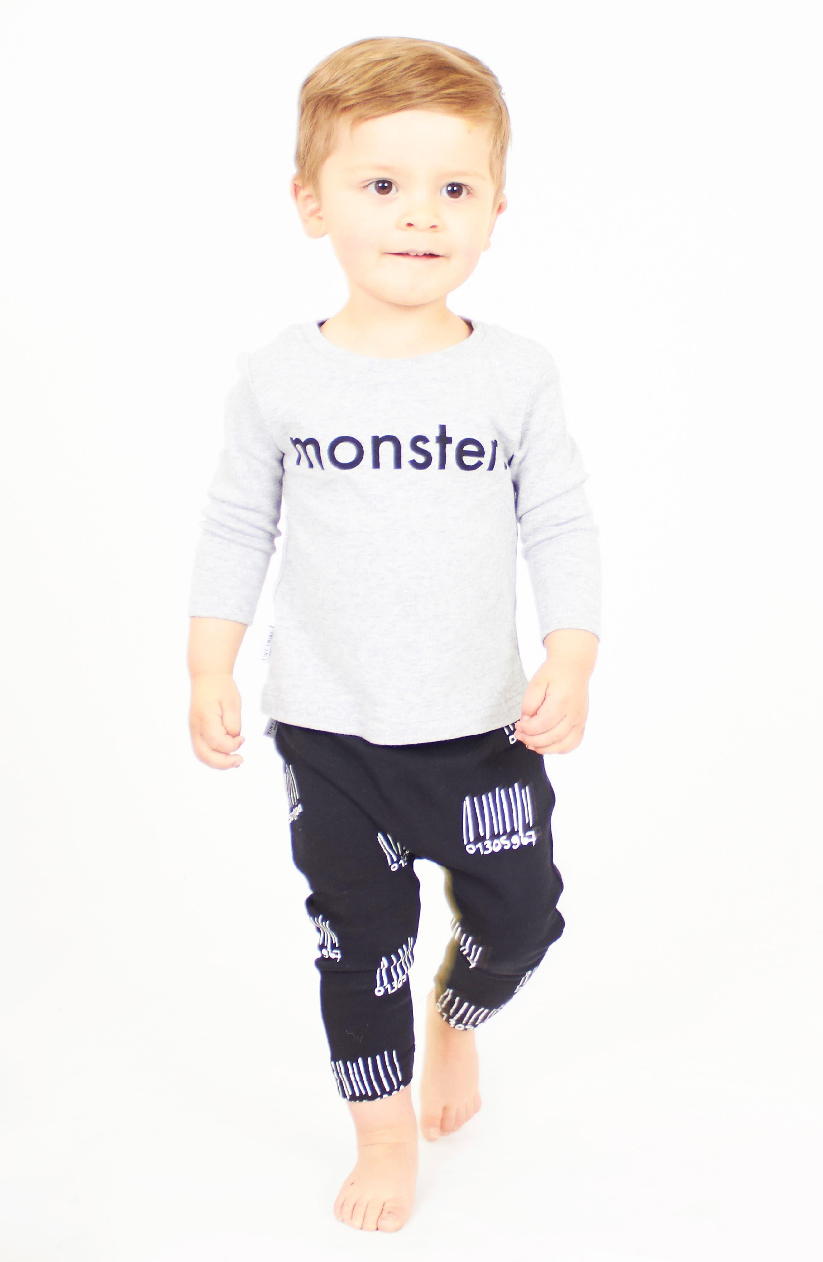 Monster T-Shirt & Leggings Set,                             Alternate thumbnail 2, color,                             099