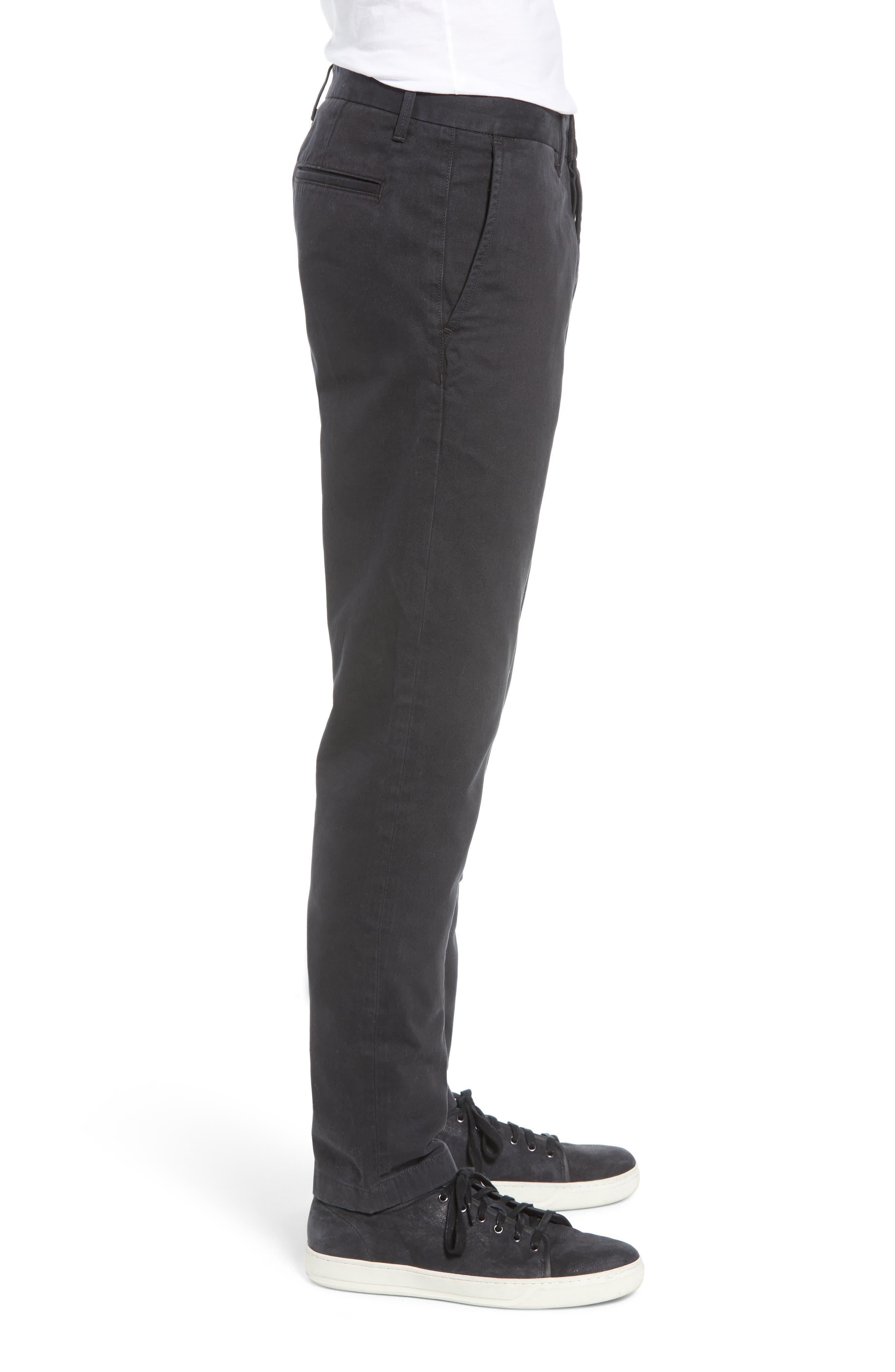Slim Chino Pants,                             Alternate thumbnail 3, color,                             BLACK