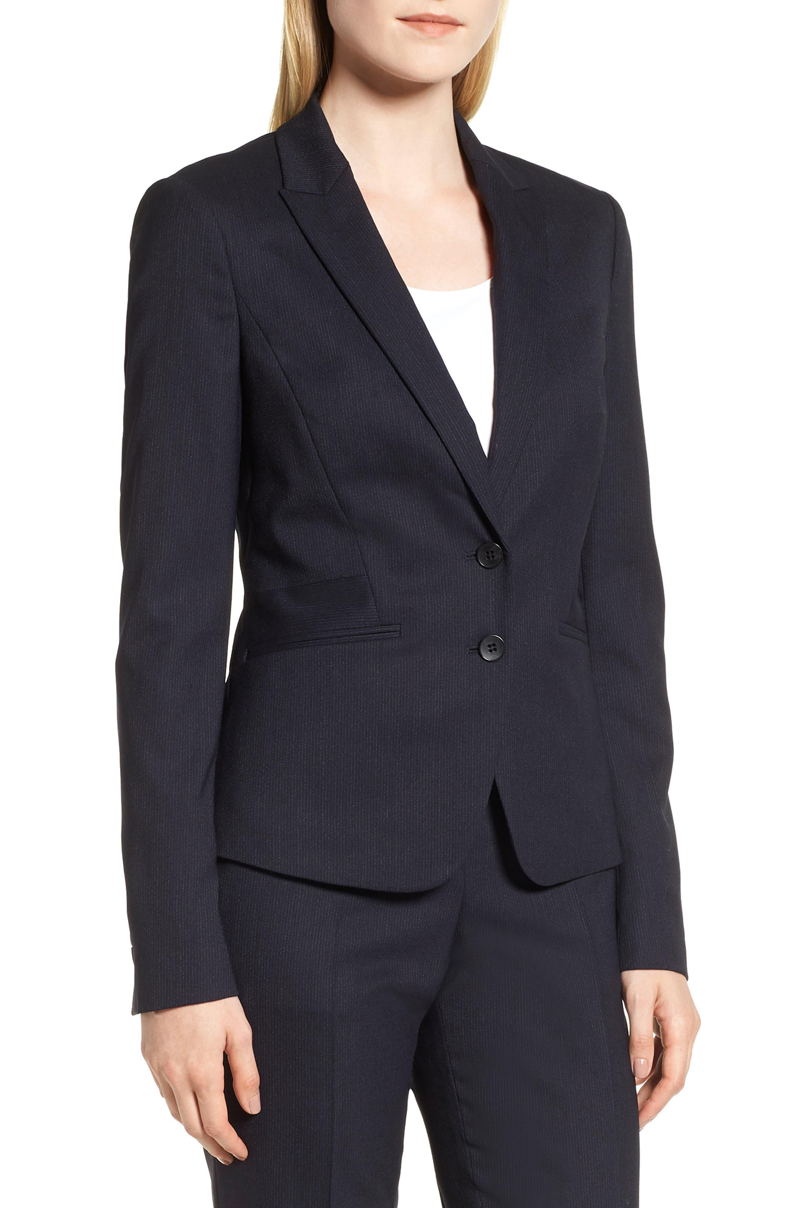 Jamahina Monostripe Stretch Wool Suit Jacket,                         Main,                         color, 468