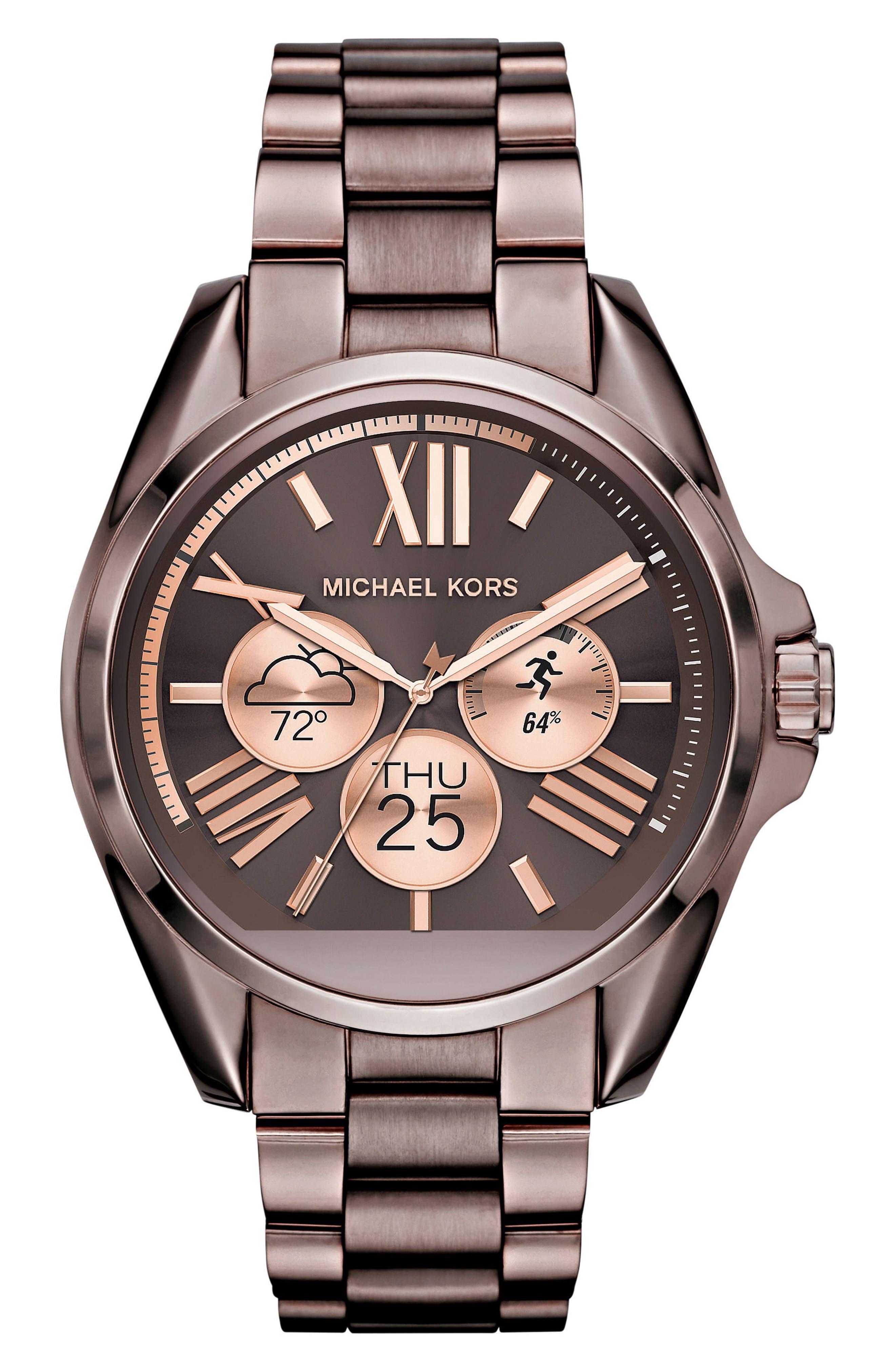 MICHAEL Michael Kors Bradshaw Access Bracelet Smart Watch, 45mm,                             Alternate thumbnail 48, color,