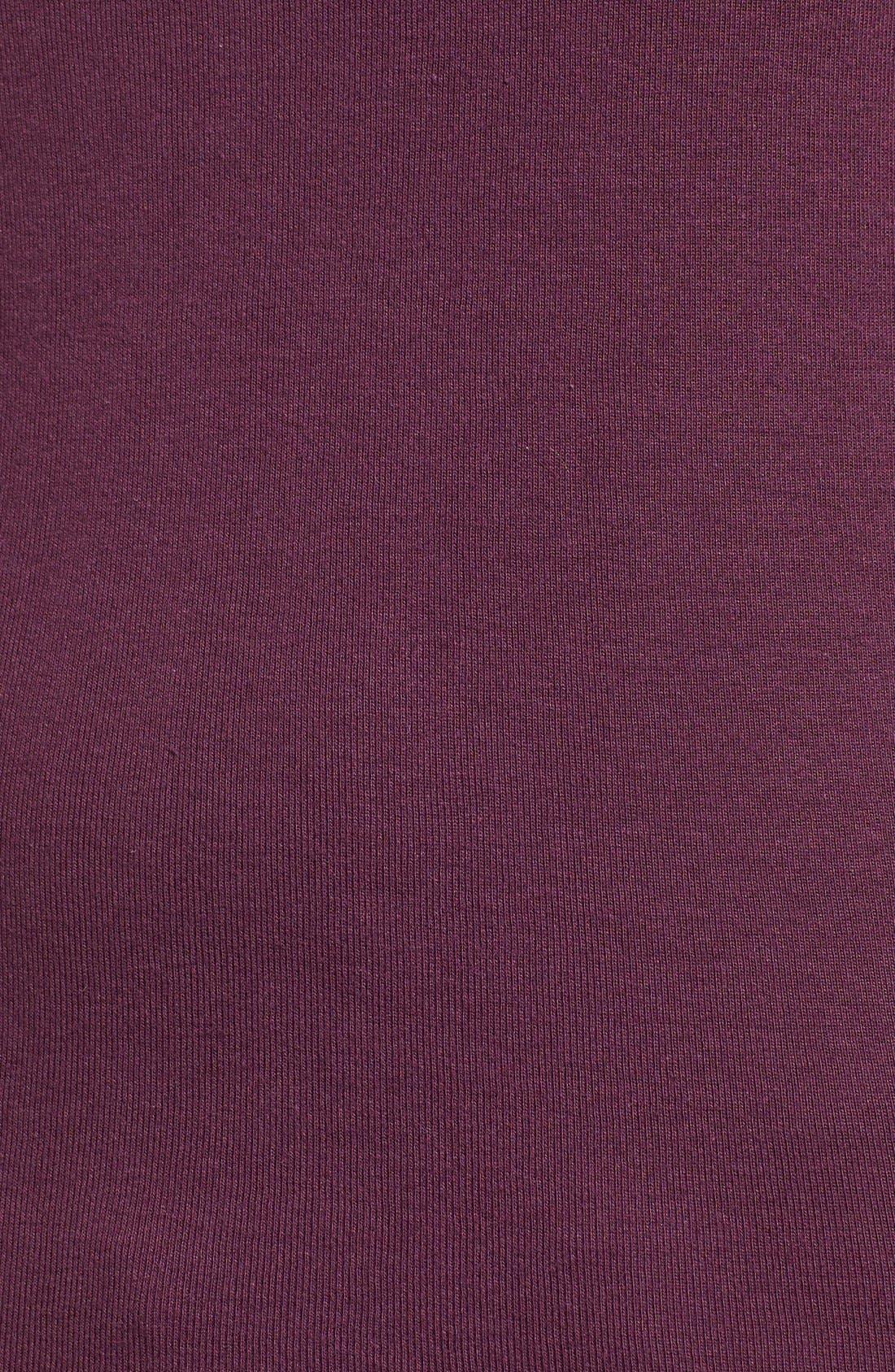 Ballet Neck Cotton & Modal Knit Elbow Sleeve Tee,                             Alternate thumbnail 198, color,