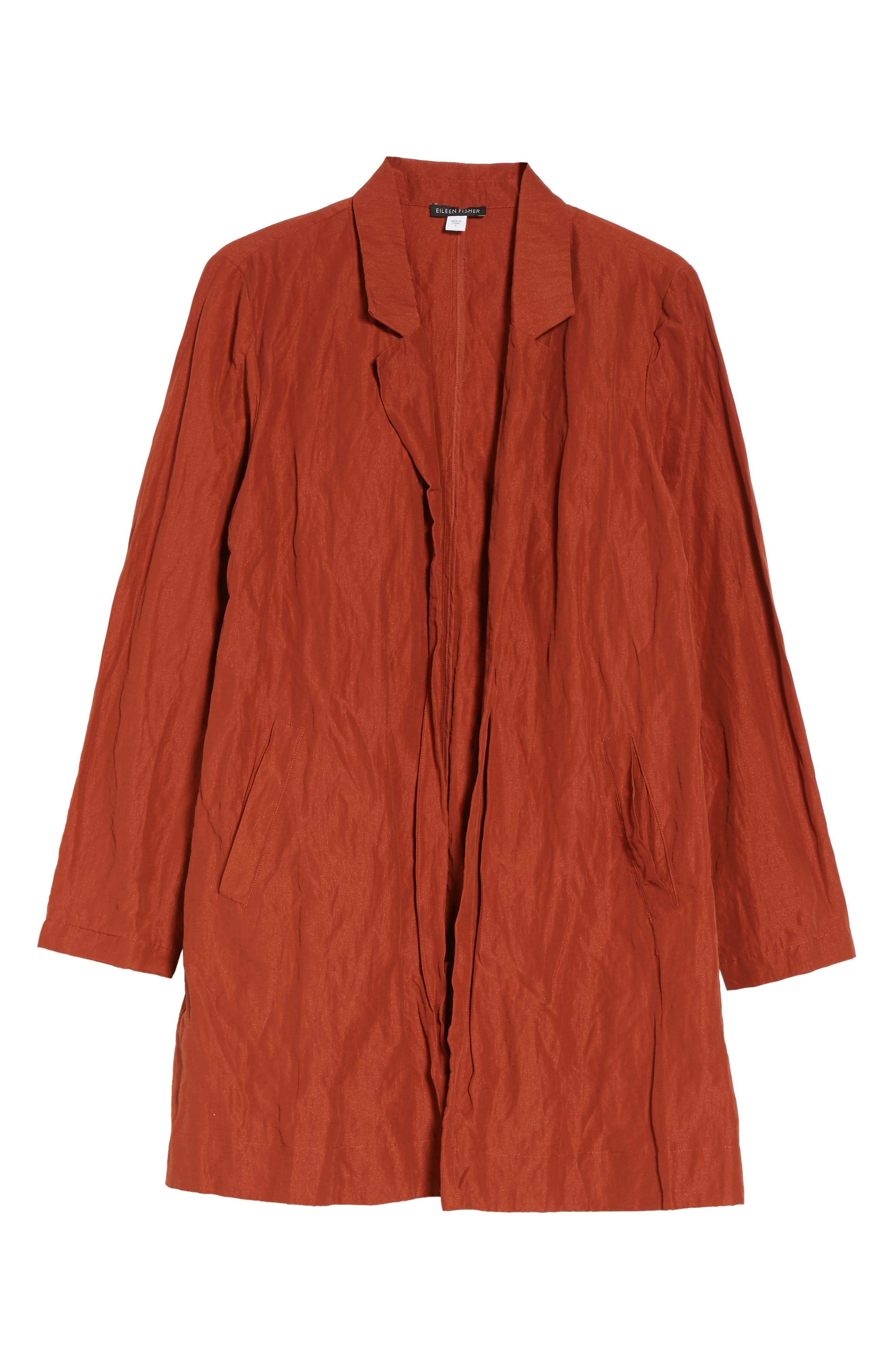 Notch Collar Long Jacket,                             Alternate thumbnail 5, color,                             620