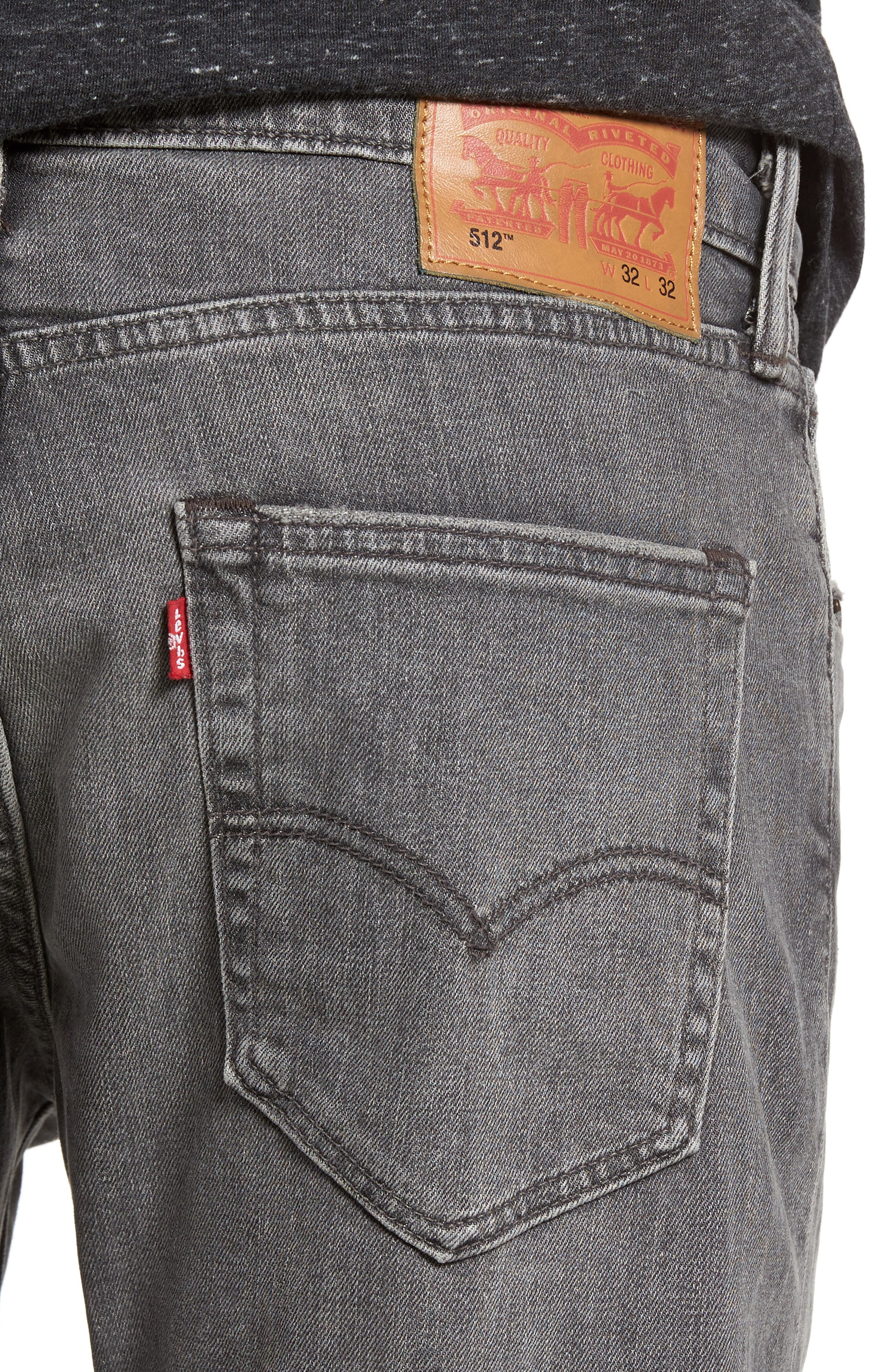 512<sup>™</sup> Slouchy Skinny Fit Jeans,                             Alternate thumbnail 4, color,                             001