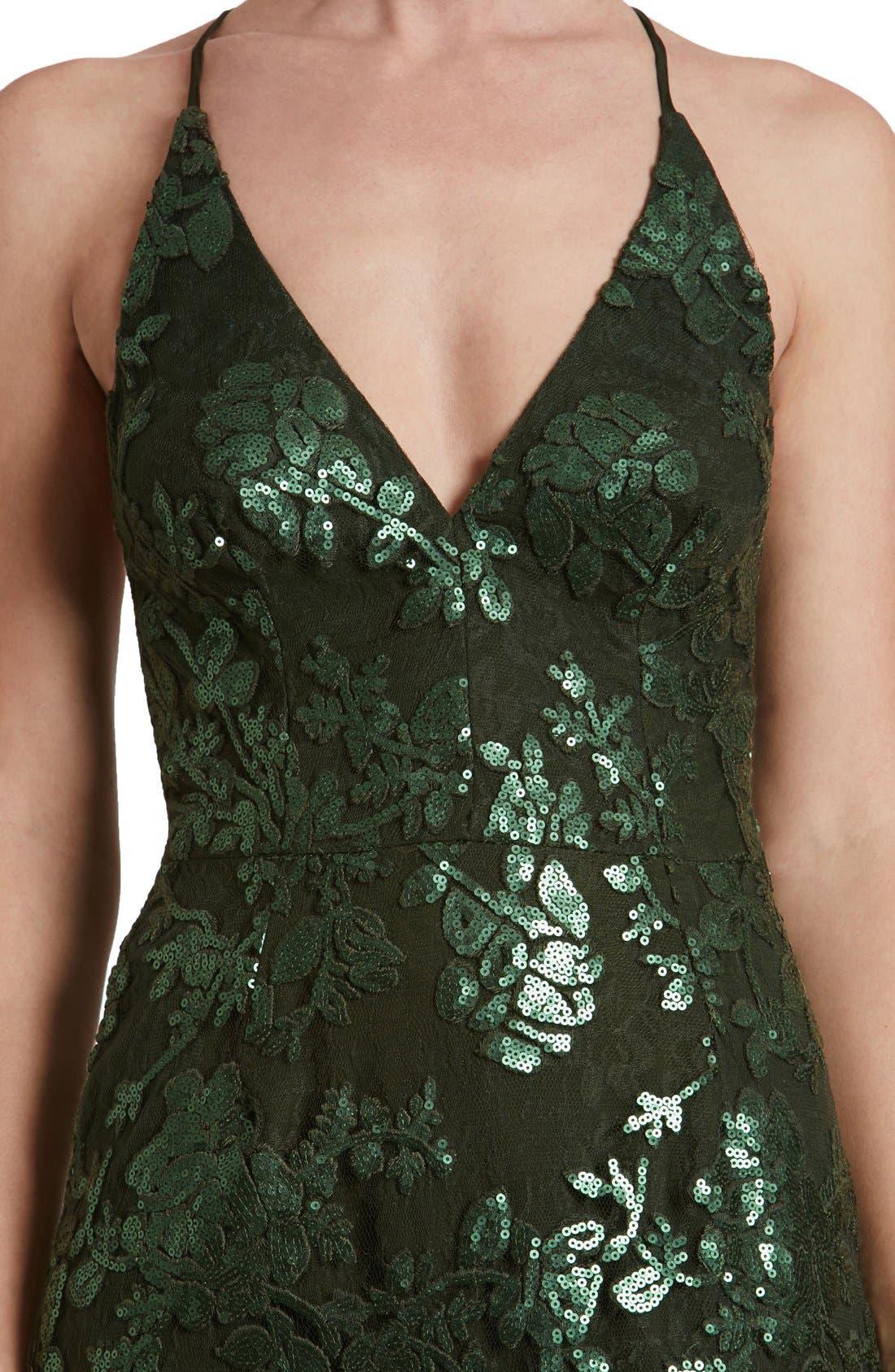 'Vivienne' Sequin Lace Gown,                             Alternate thumbnail 10, color,