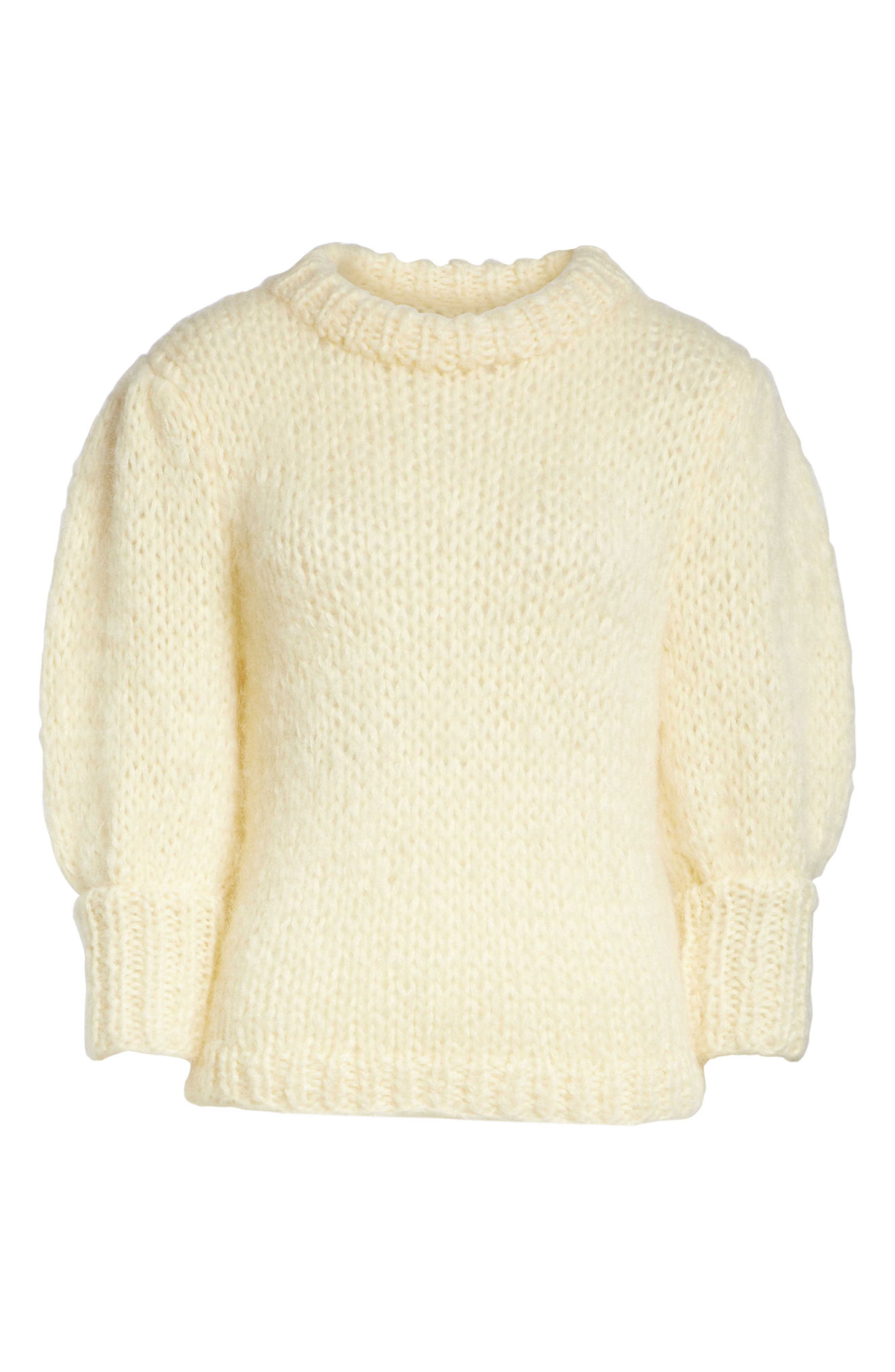 Juilliard Mohair & Wool Puff Sleeve Sweater,                             Alternate thumbnail 6, color,                             900