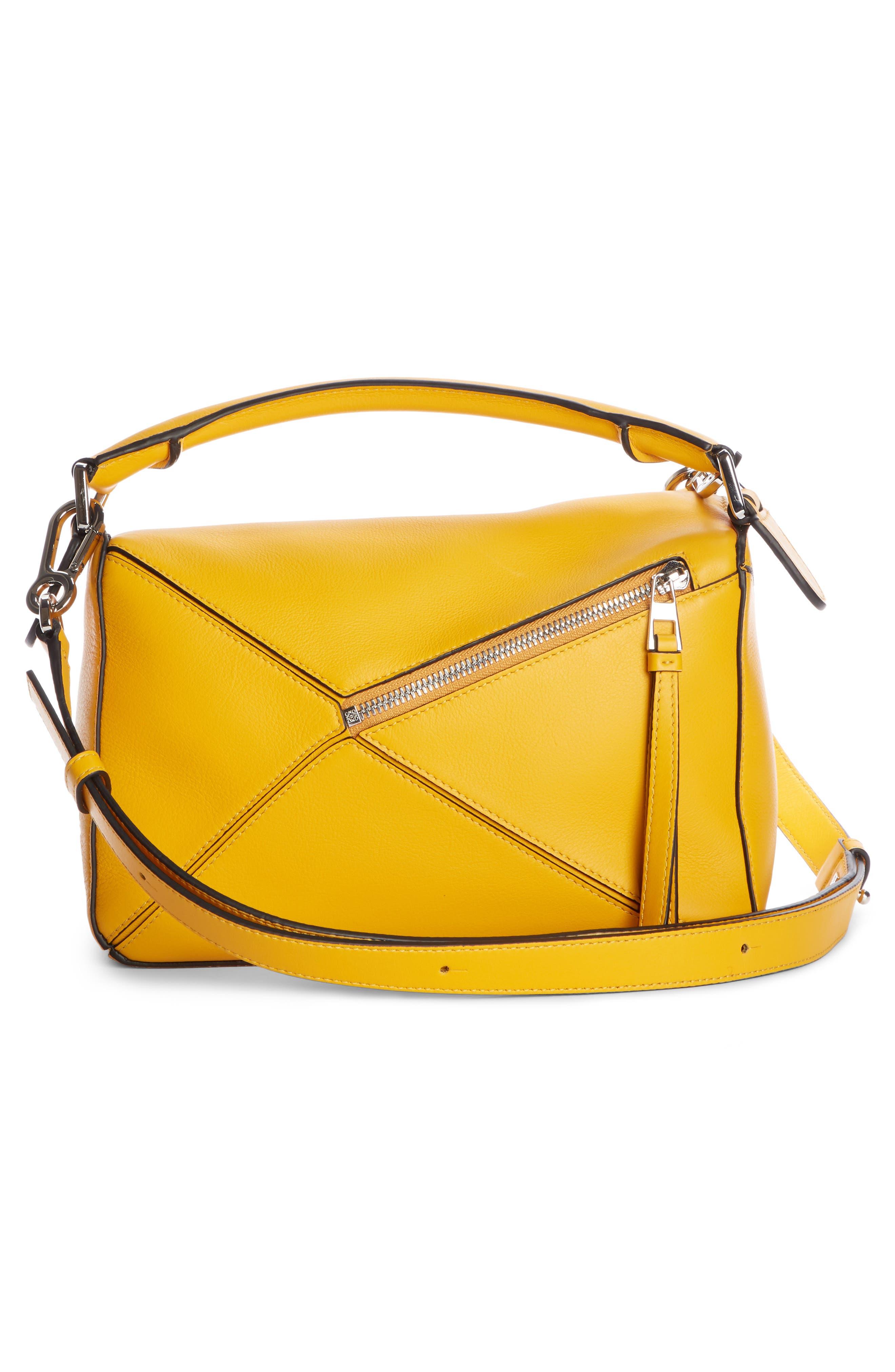 LOEWE,                             Small Puzzle Shoulder Bag,                             Alternate thumbnail 4, color,                             YELLOW MANGO