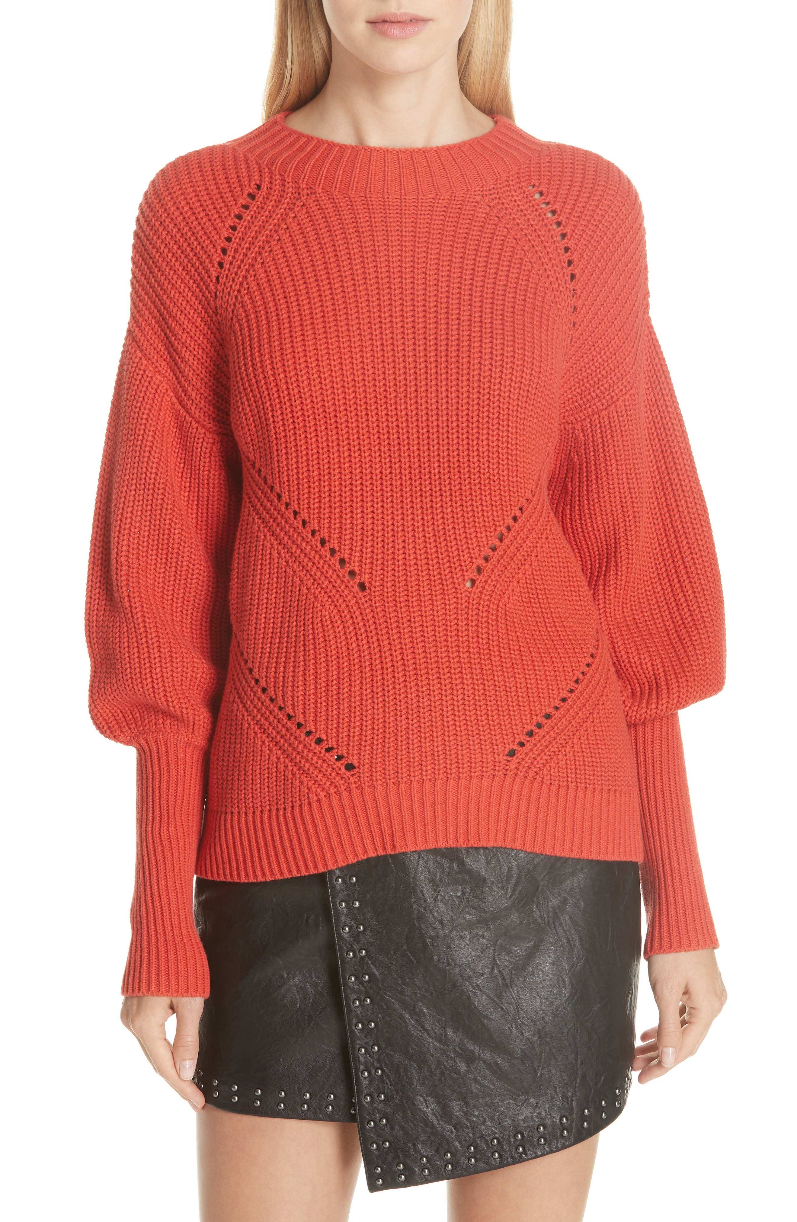 Landyn Blouson Sleeve Sweater,                             Main thumbnail 1, color,                             600