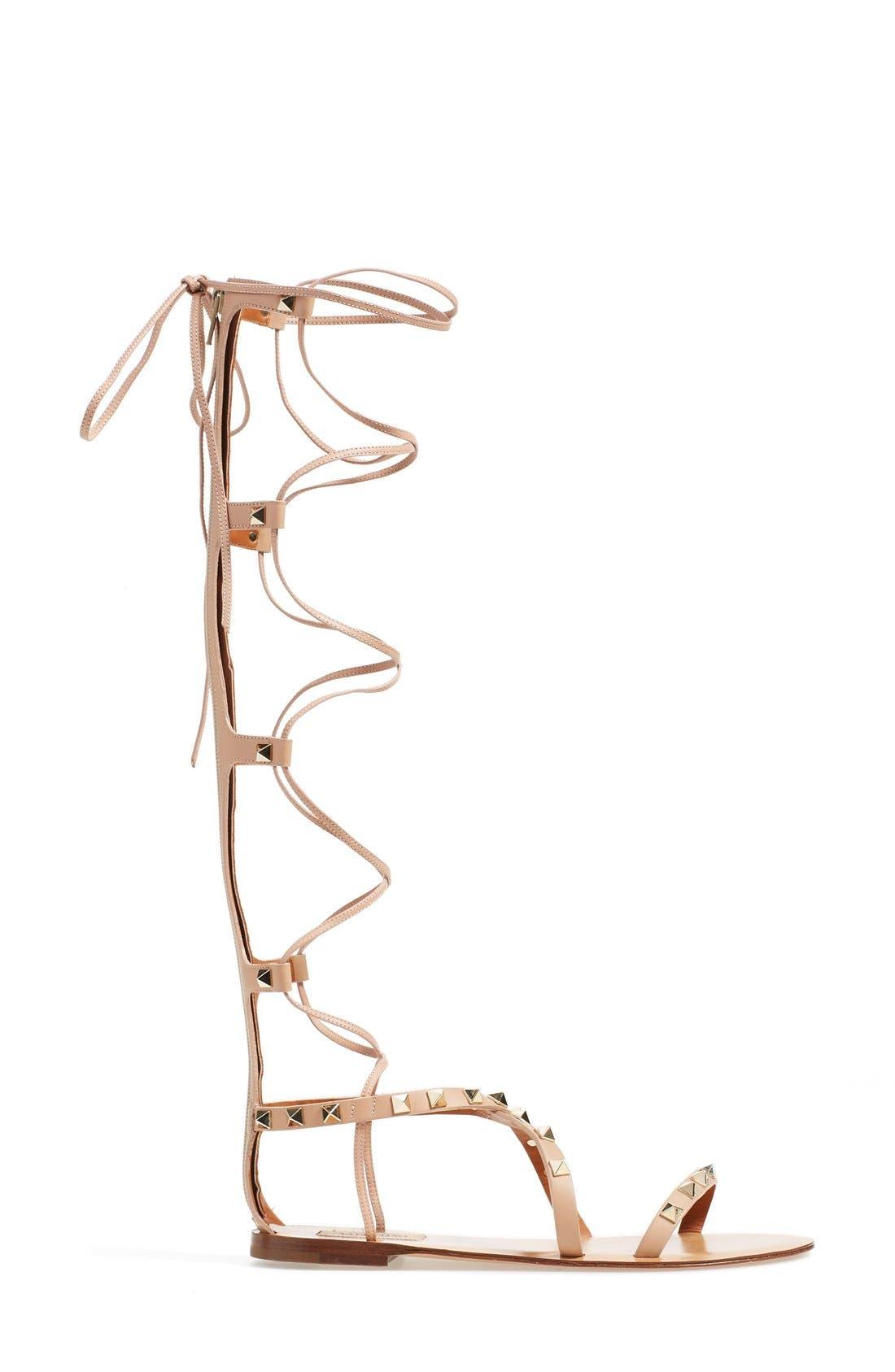 'Rockstud' Tall Gladiator Sandal,                             Alternate thumbnail 2, color,                             251