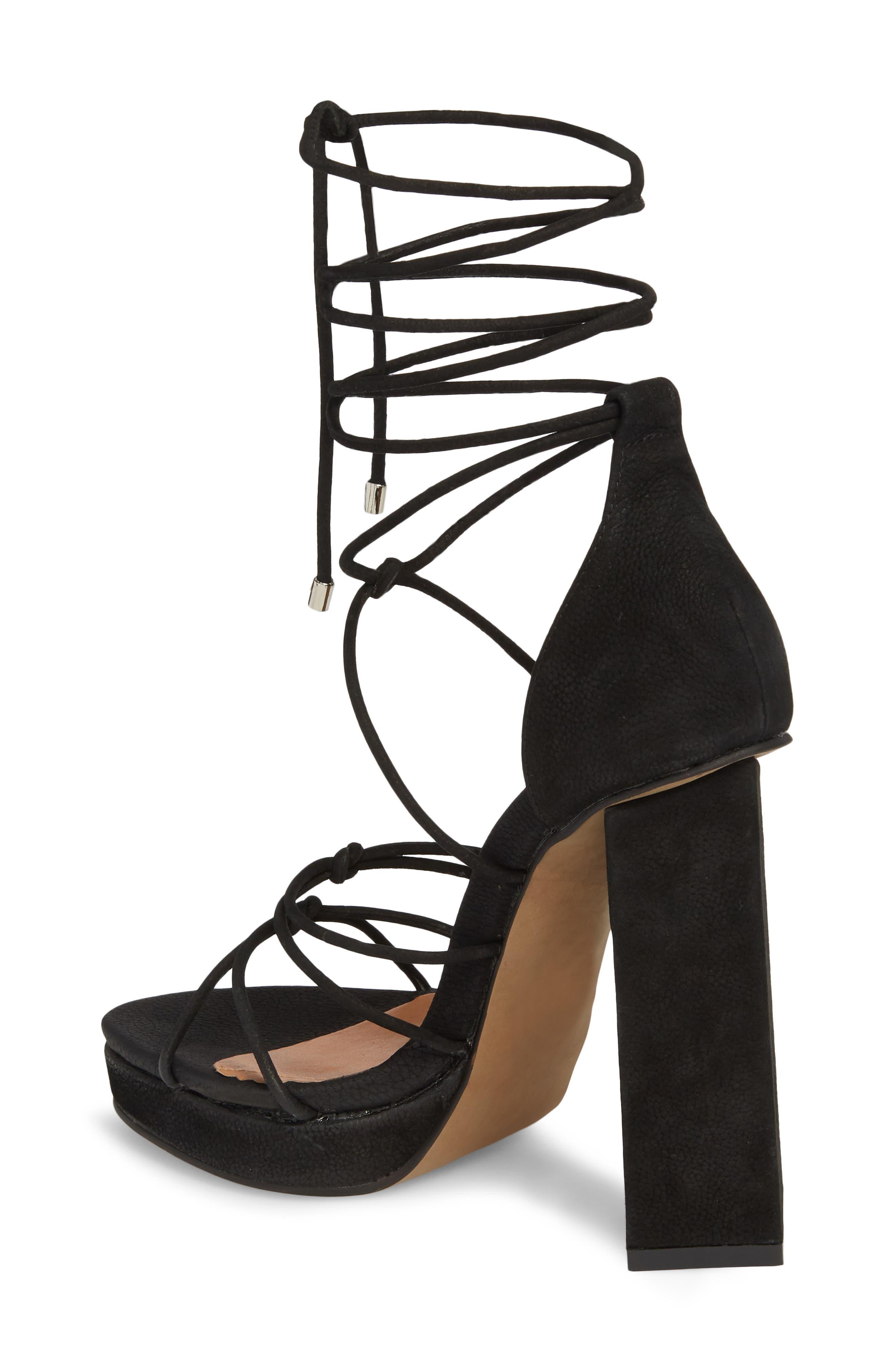Bordega Ankle Wrap Sandal,                             Alternate thumbnail 2, color,                             BLACK LEATHER