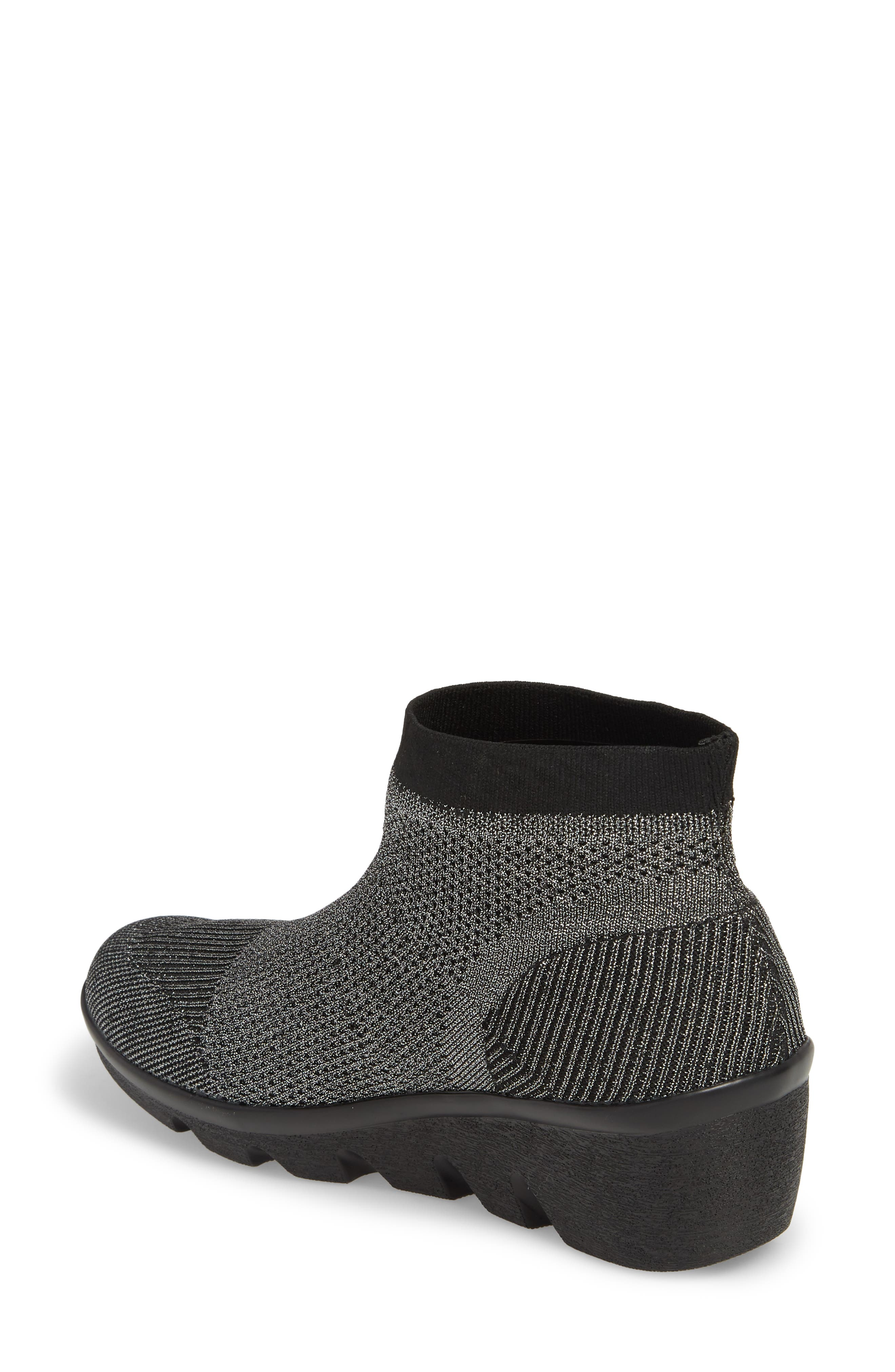 Camryn Knit Bootie,                             Alternate thumbnail 2, color,                             GUNMETAL FABRIC