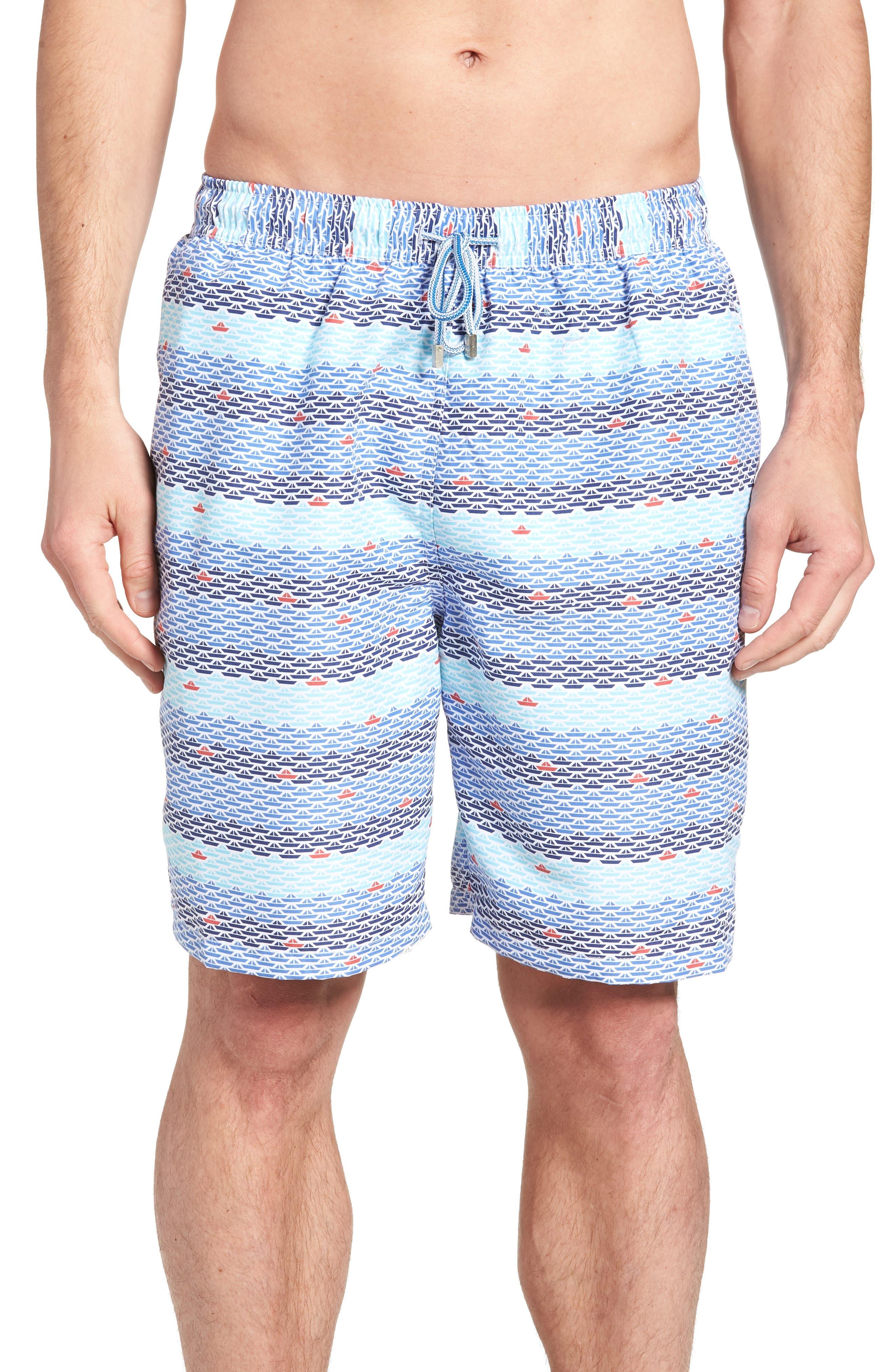 Sail Away Swim Trunks,                         Main,                         color, CERAMIC