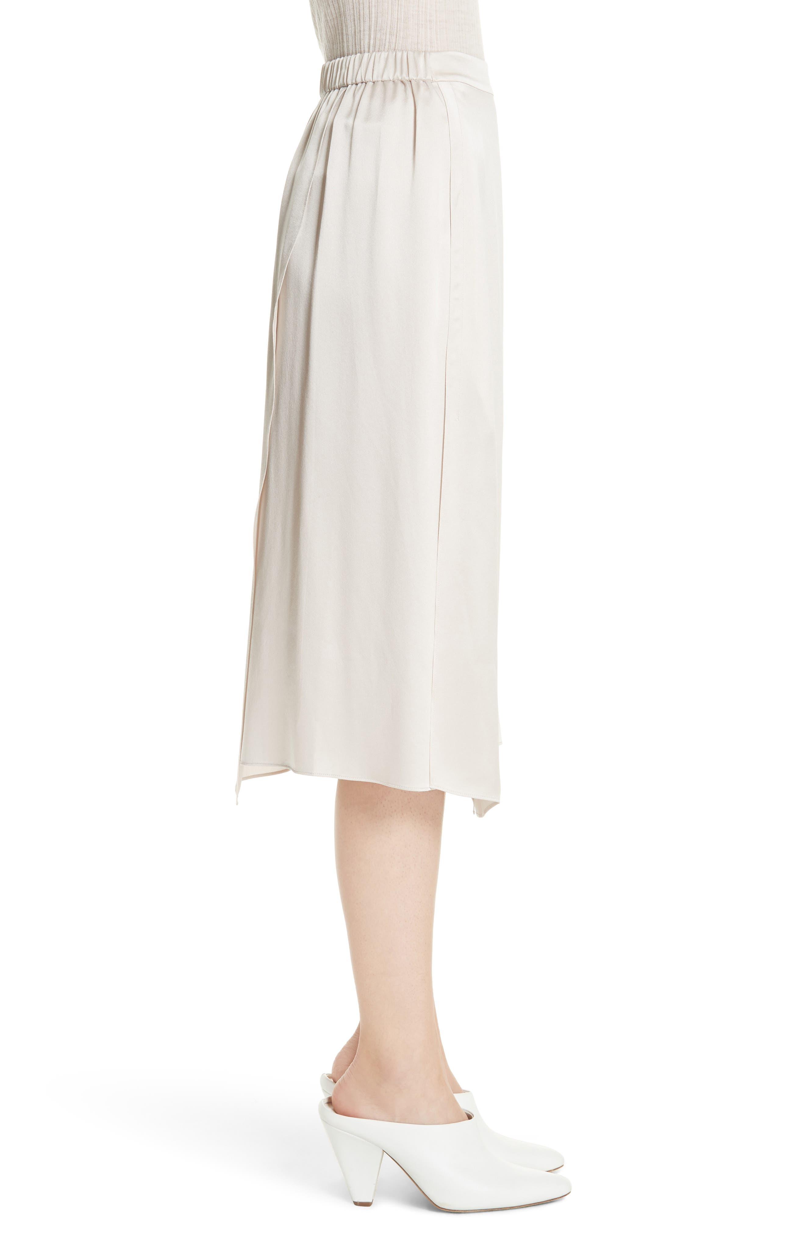 Drape Panel Silk Skirt,                             Alternate thumbnail 3, color,                             292