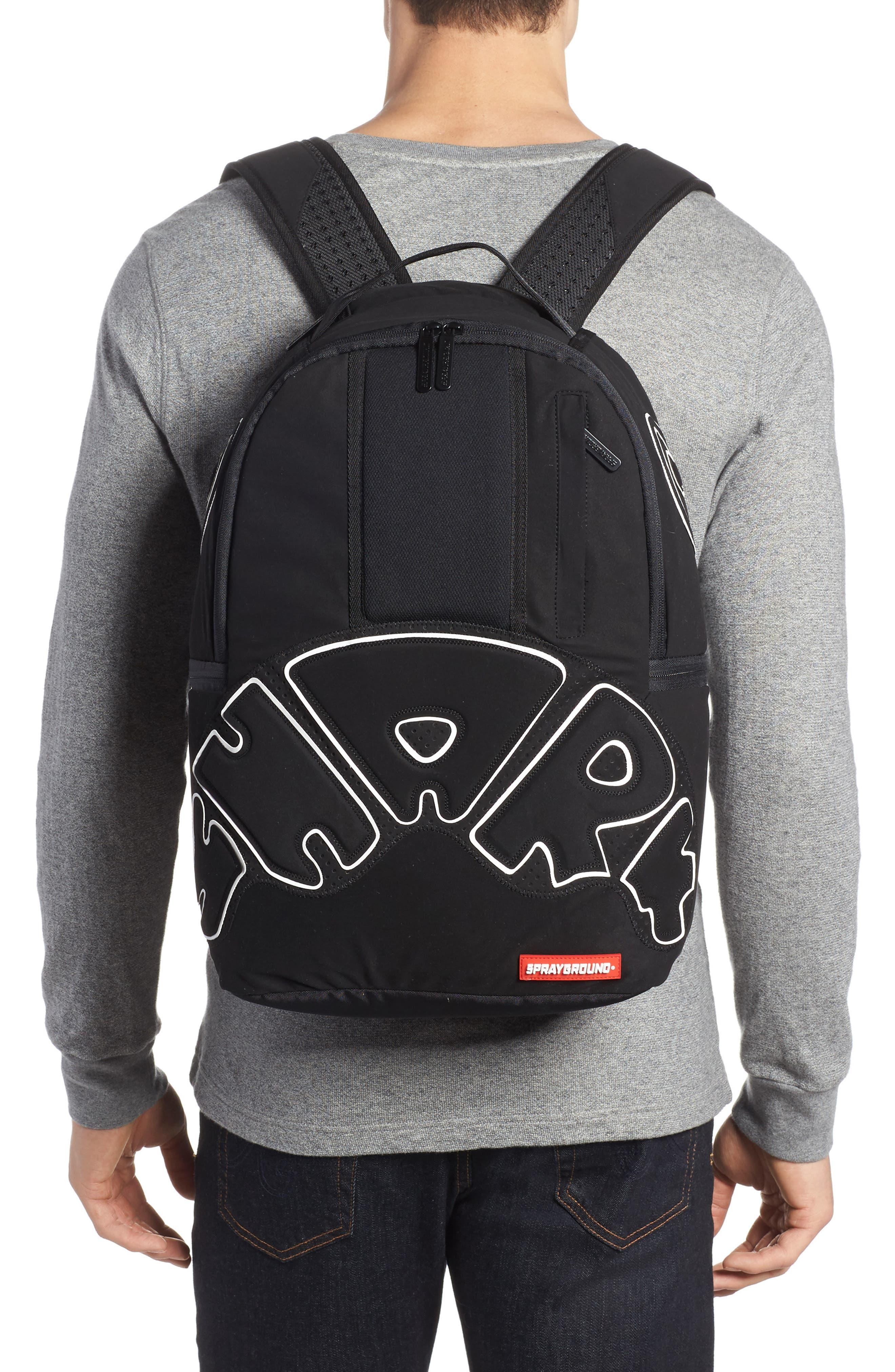 Uptempo Shark Backpack,                             Alternate thumbnail 2, color,                             001