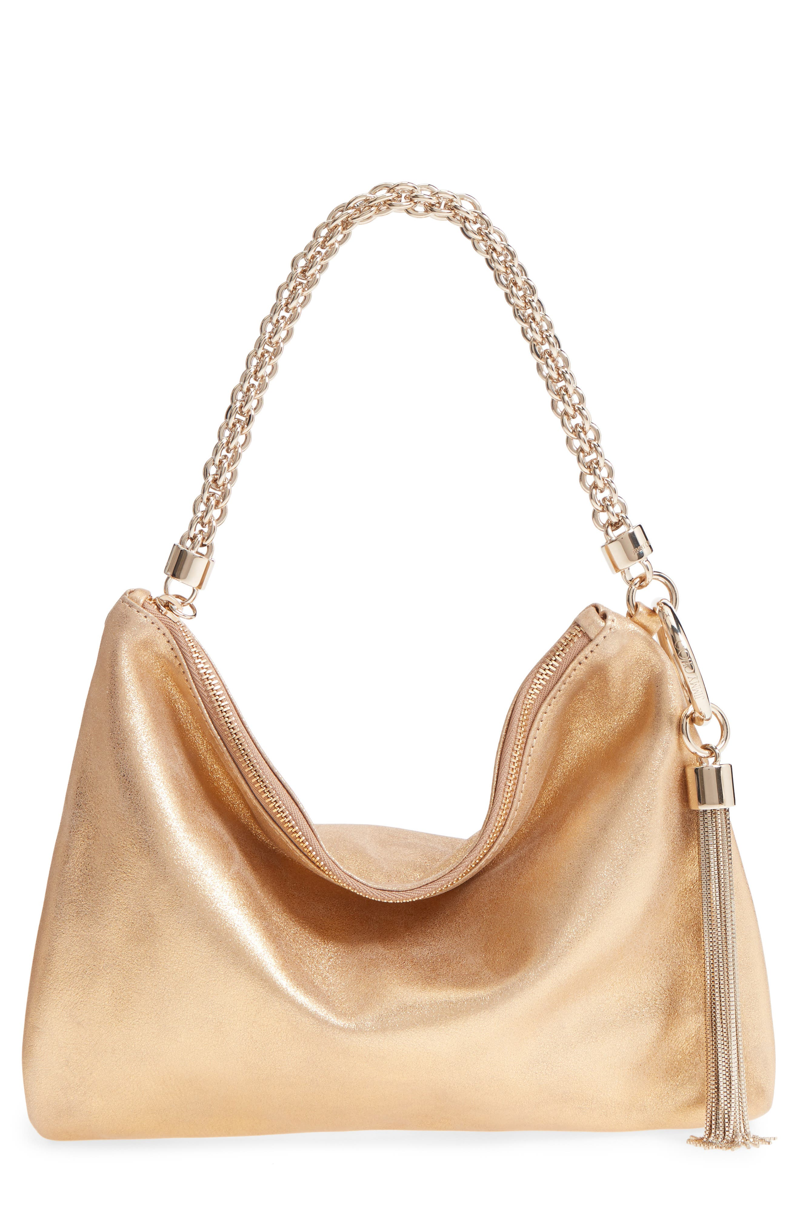 Callie Evening Metallic Leather Clutch,                             Main thumbnail 1, color,                             GOLD