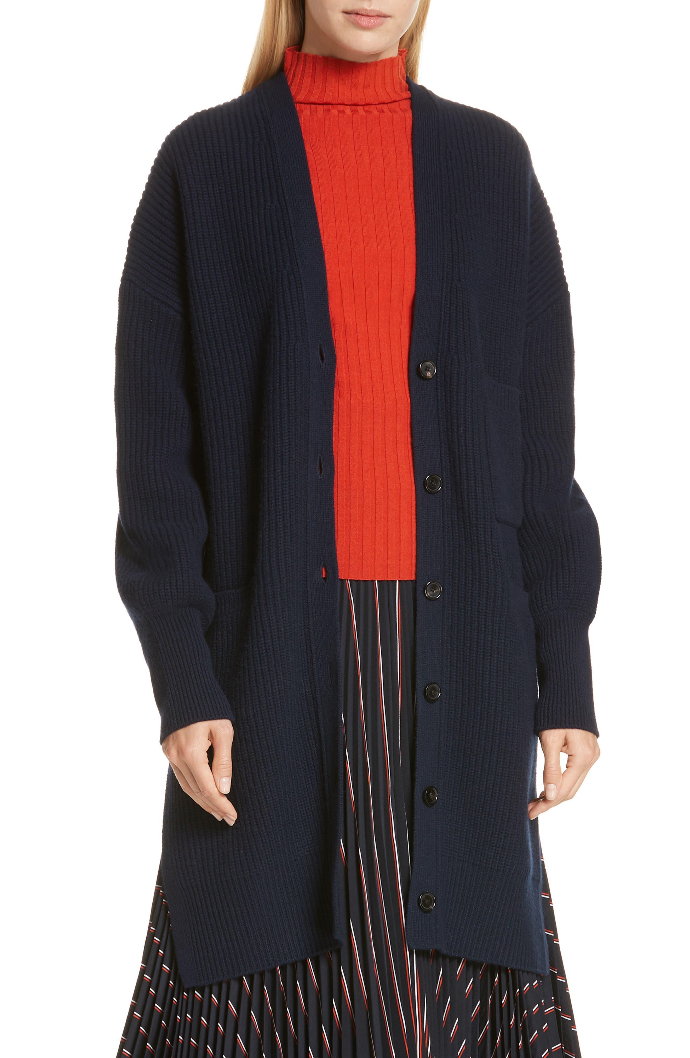 A.l.c. Larissa Merino Wool Long Cardigan, Blue