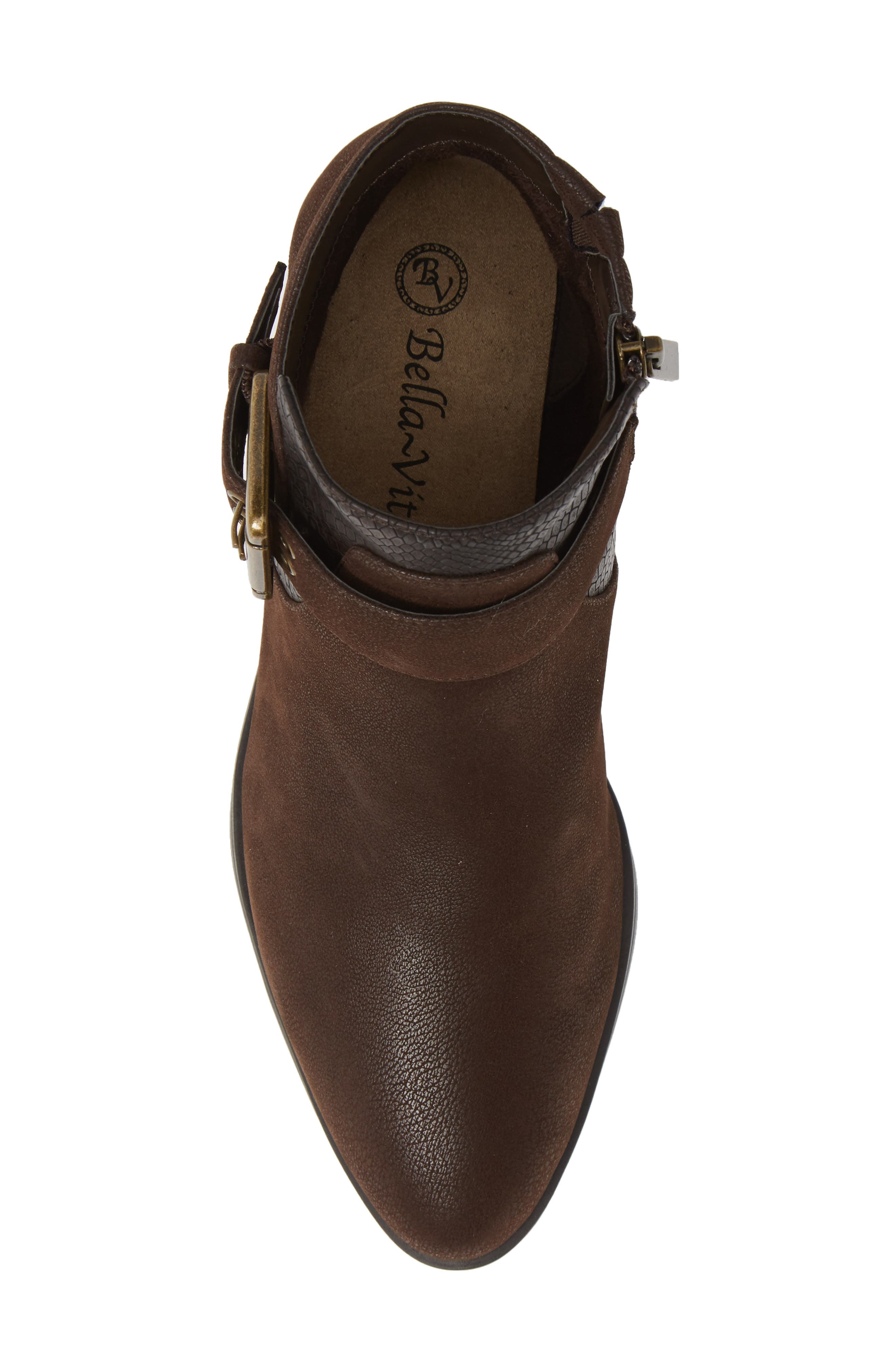 Honor II Bootie,                             Alternate thumbnail 5, color,                             BROWN LEATHER