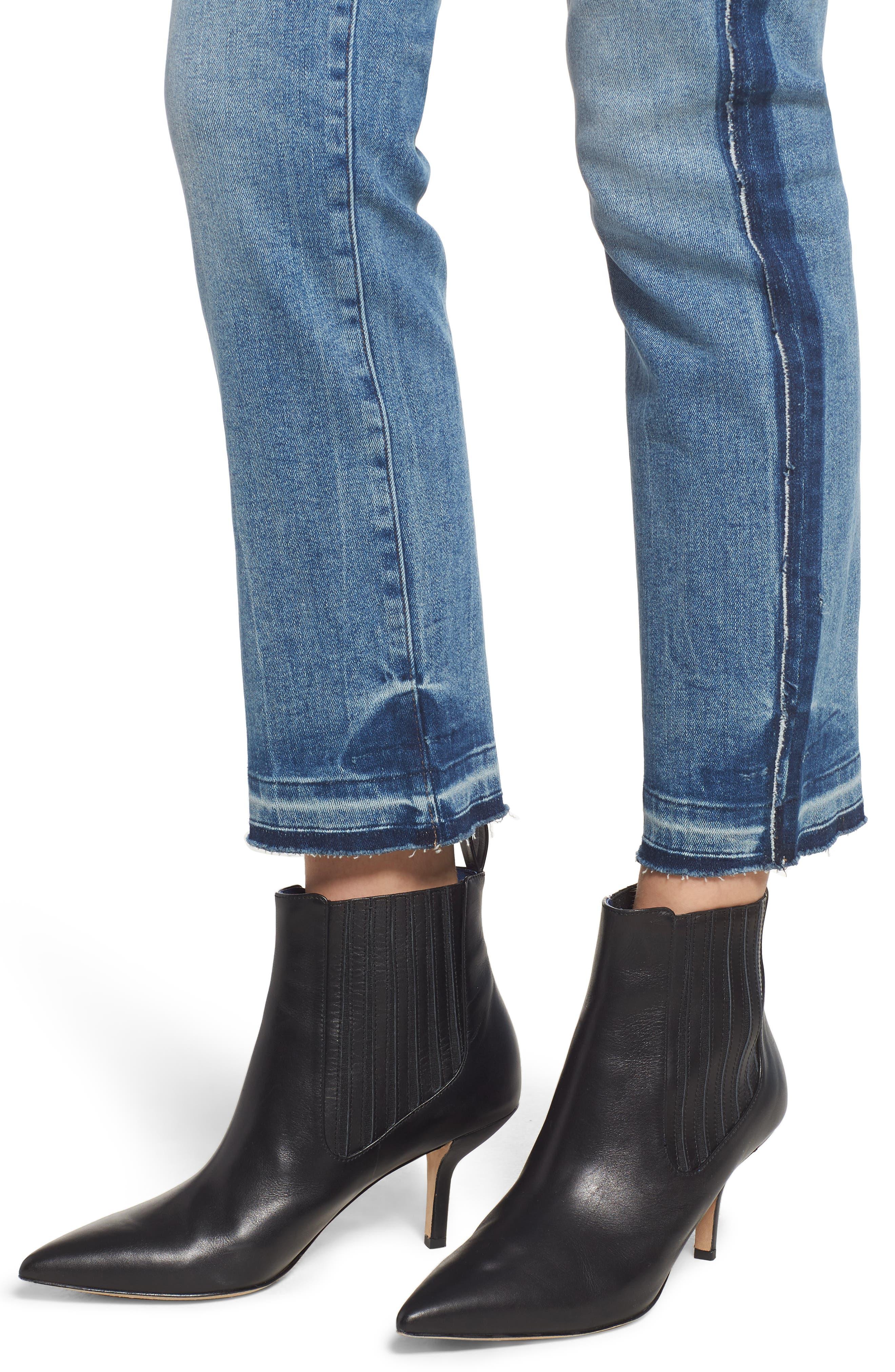 Mara Instasculpt Ankle Straight Leg Jeans,                             Alternate thumbnail 4, color,                             EVERETT