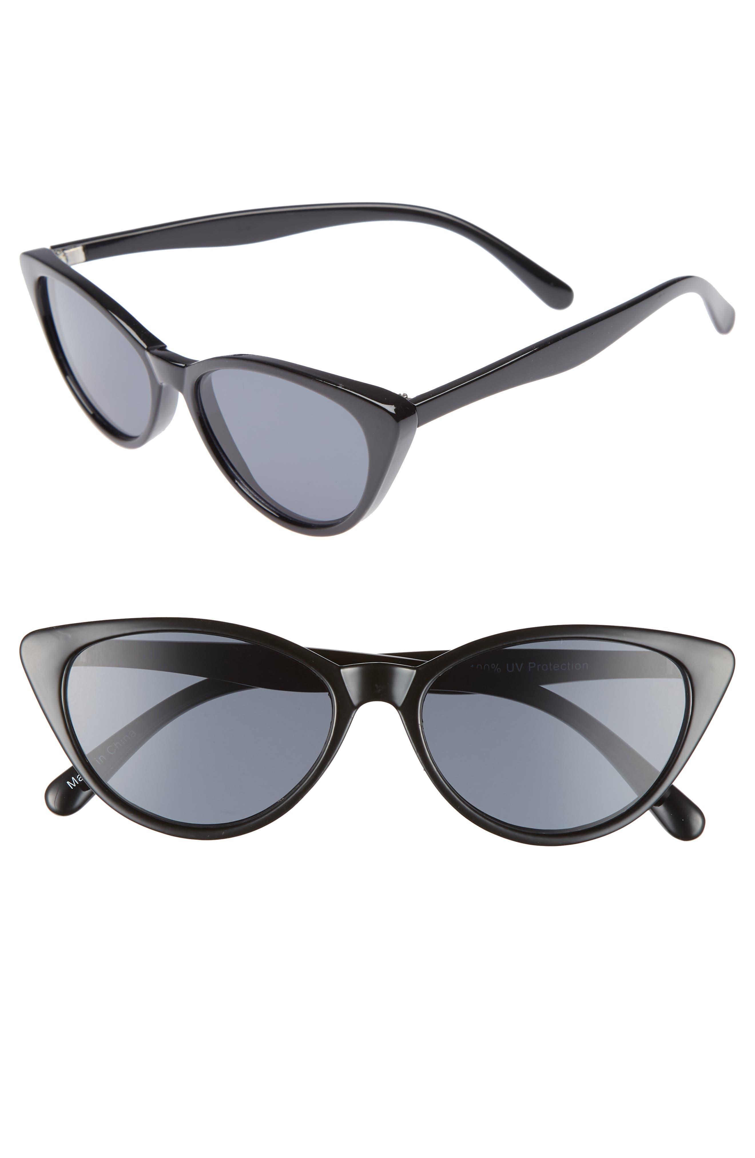 I Spy 53mm Exaggerated Cat Eye Sunglasses,                             Main thumbnail 1, color,                             001