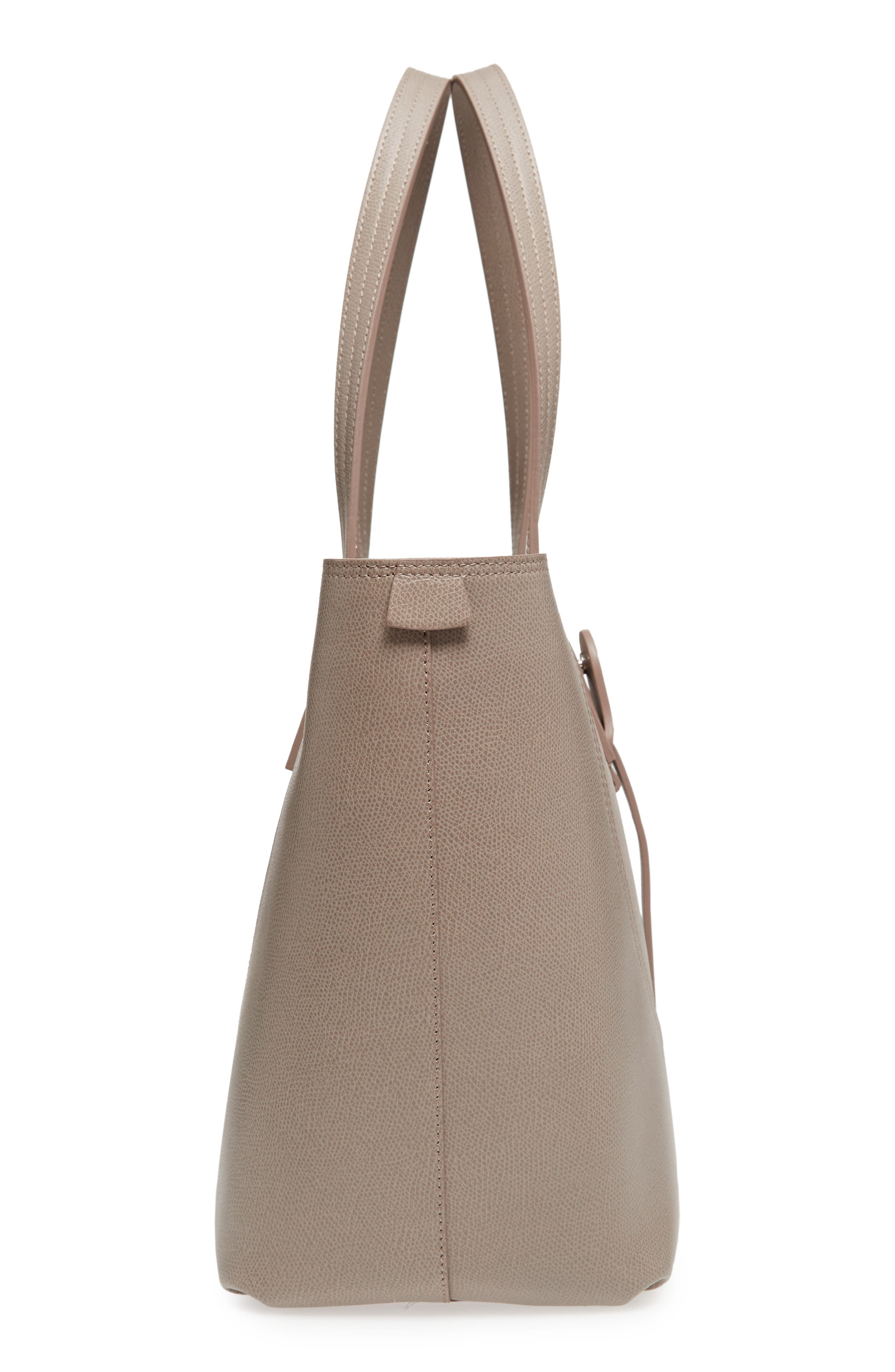 Voya Pebbled Leather Tote,                             Alternate thumbnail 5, color,                             SAND