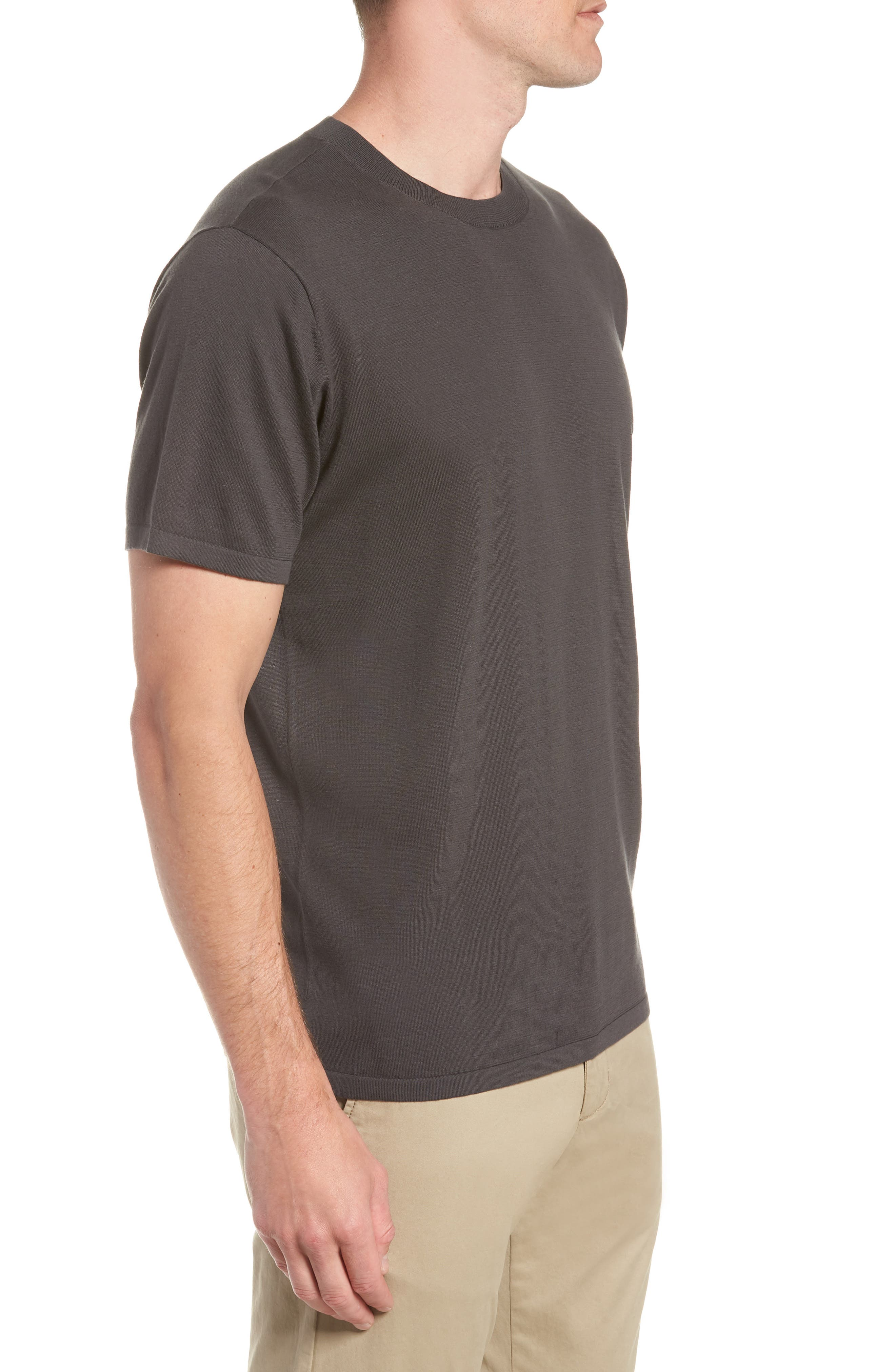 Slim Fit Pima Cotton Sweater T-Shirt,                             Alternate thumbnail 3, color,                             020