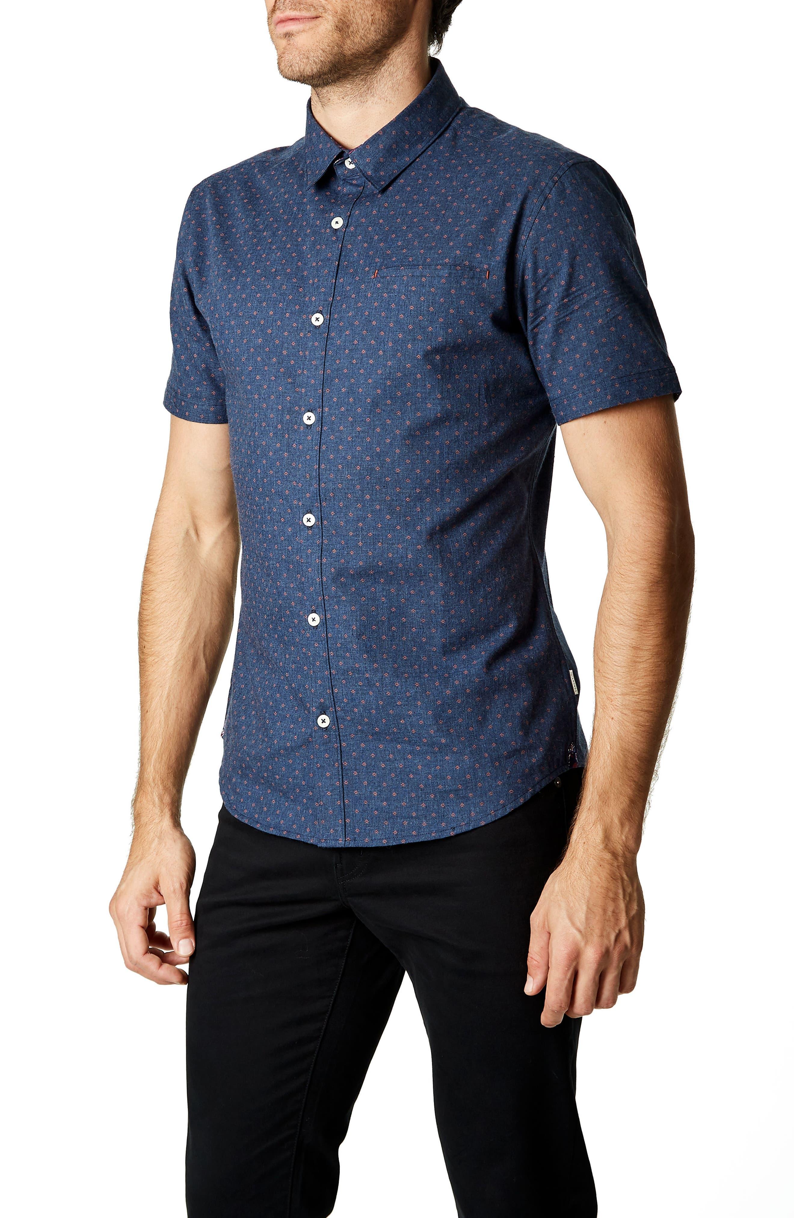 American Dream Trim Fit Sport Shirt,                             Alternate thumbnail 4, color,                             410