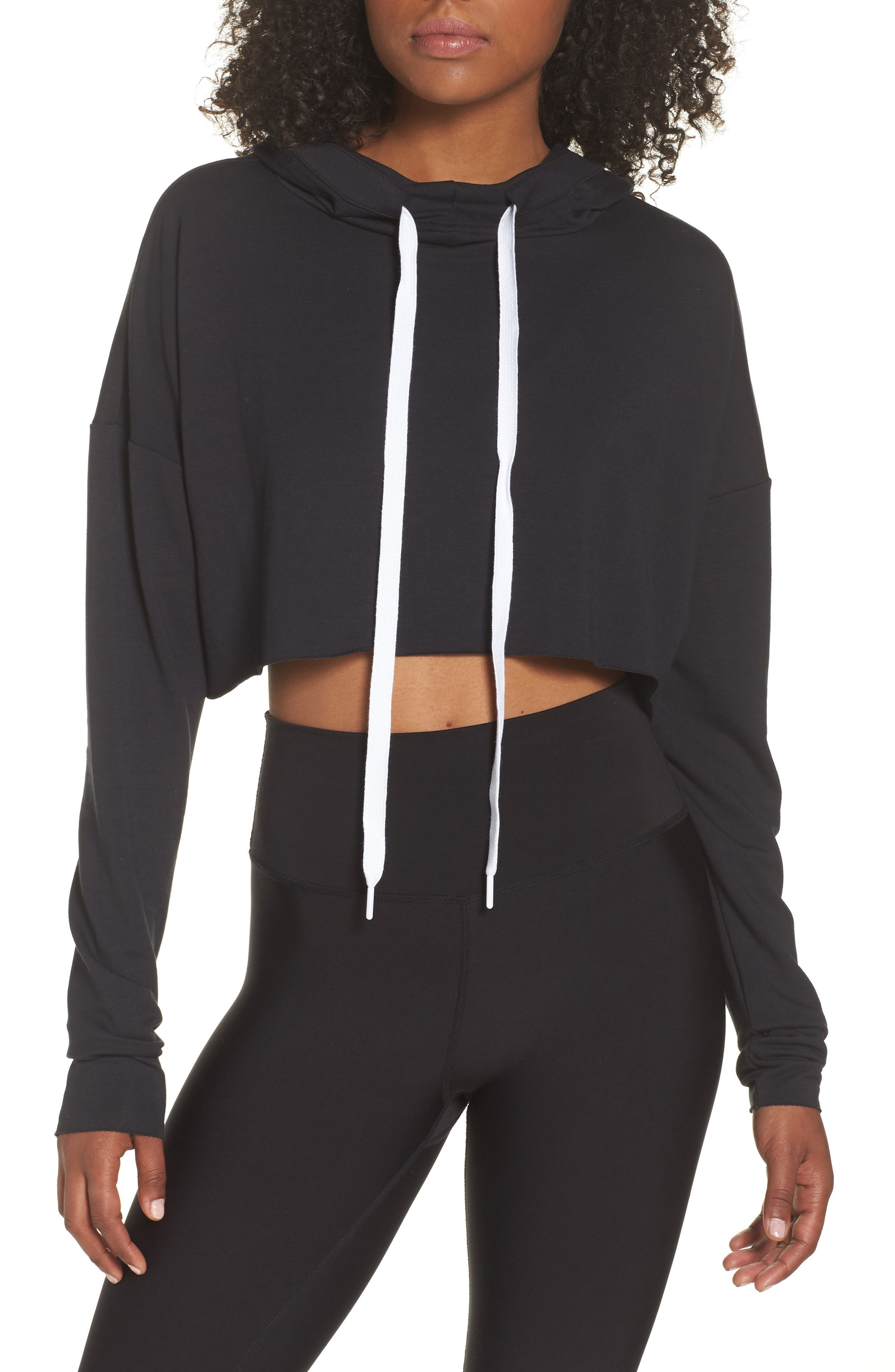 Crop Hoodie,                             Main thumbnail 1, color,                             005