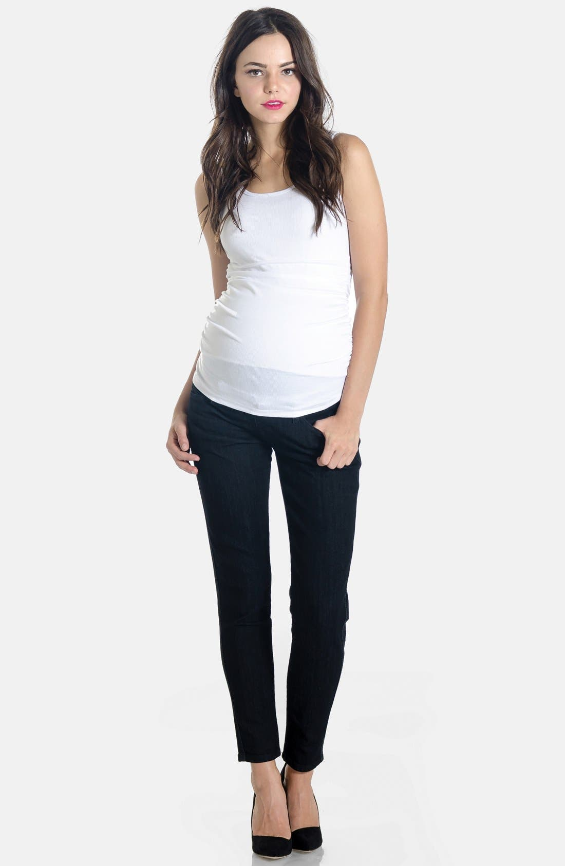 Skinny Maternity Jeans,                             Main thumbnail 3, color,
