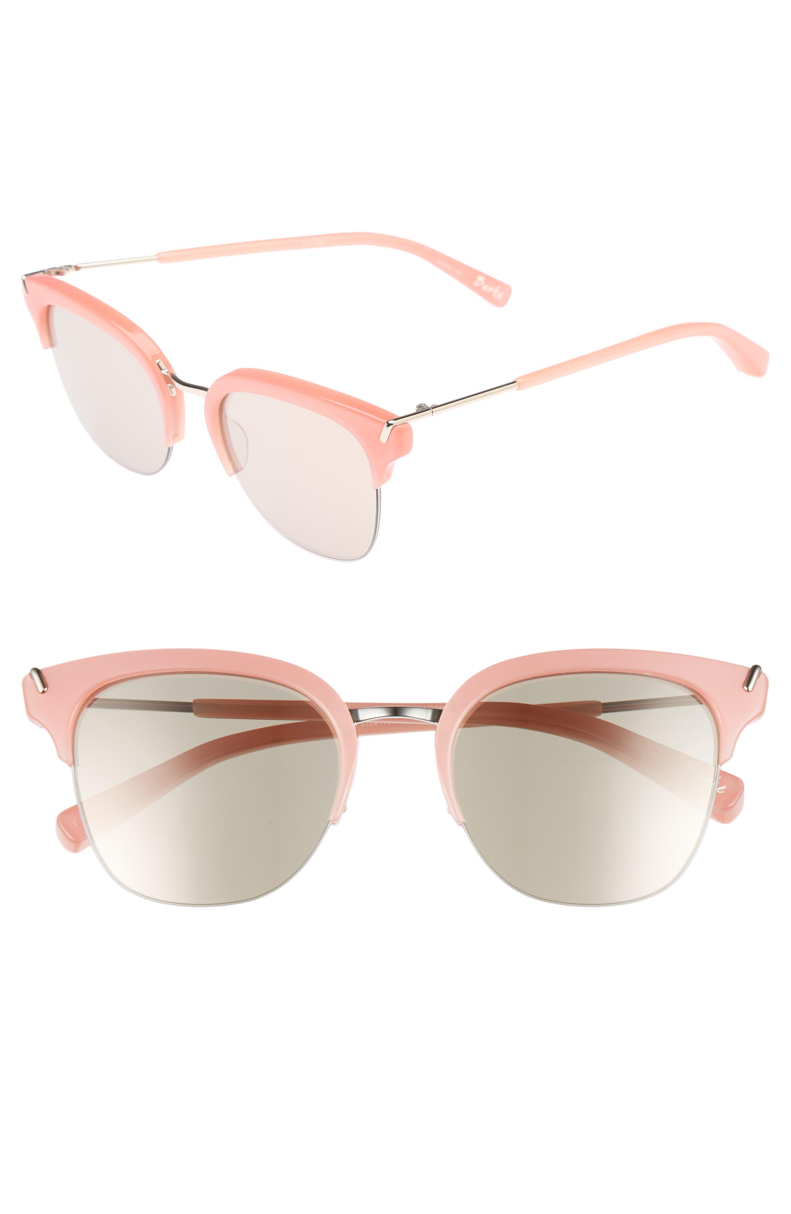 Burke 52mm Horn Rimmed Sunglasses,                         Main,                         color, 001